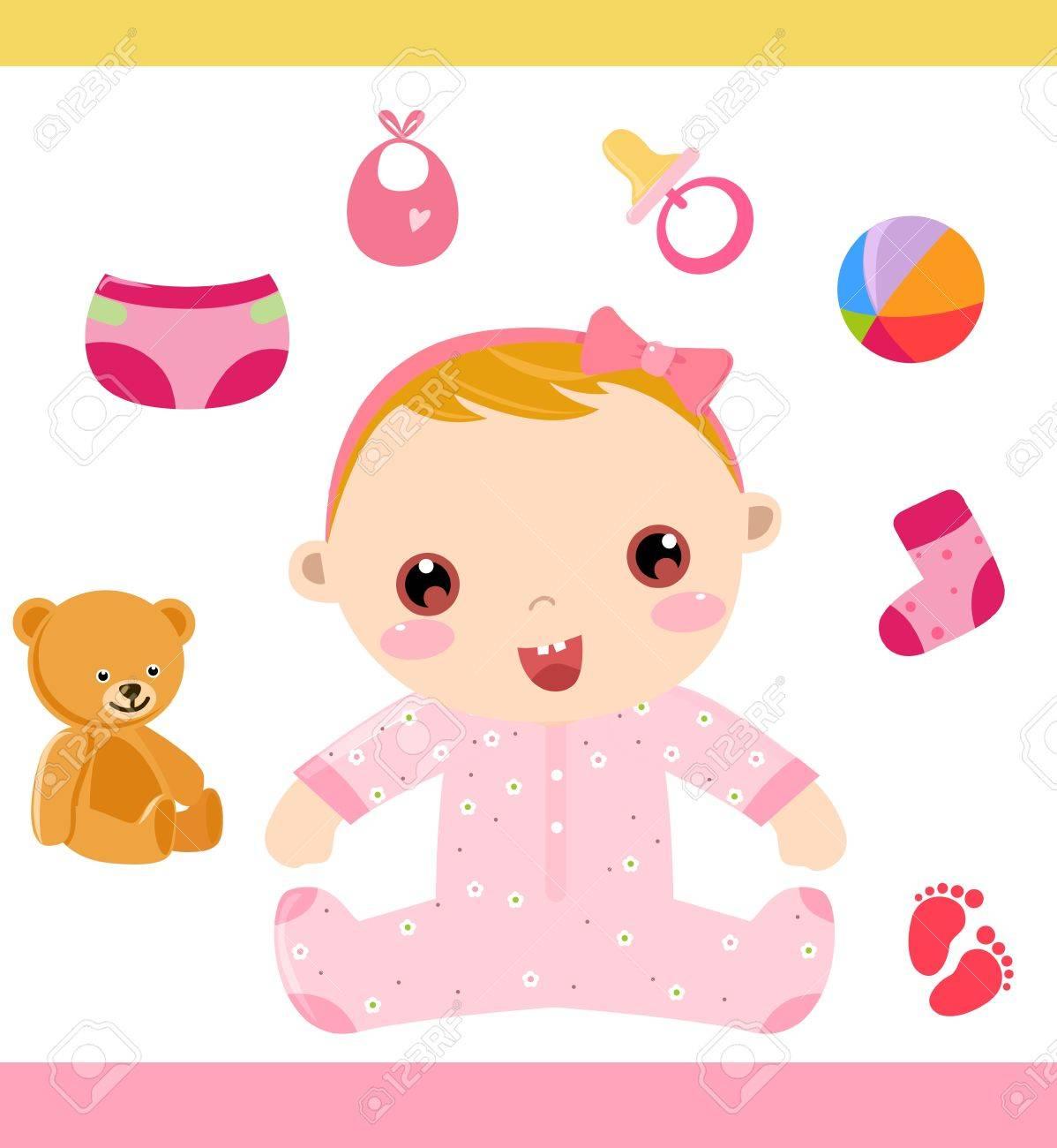 baby girl Stock Vector - 16262401