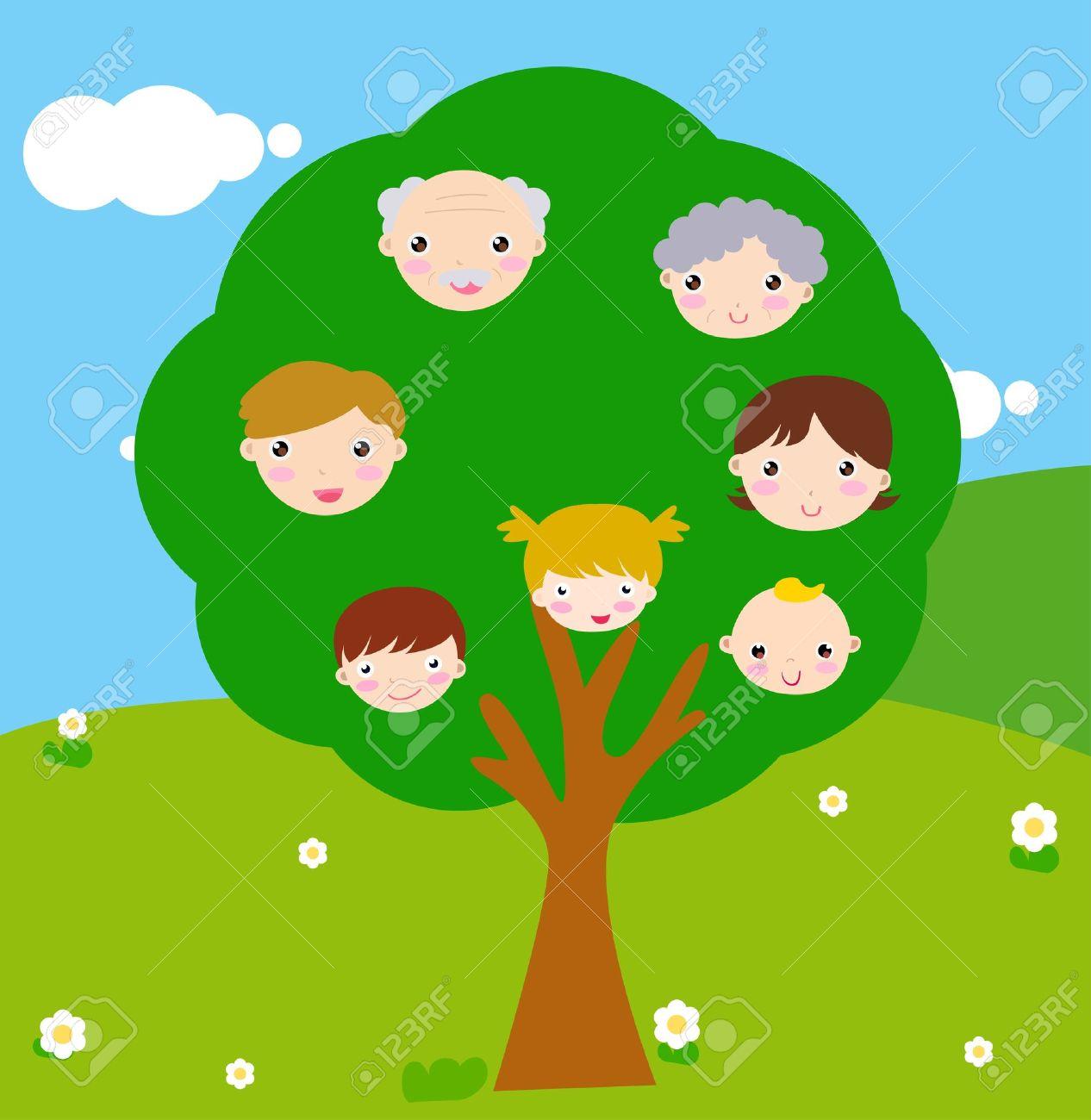 Family Tree Cartoon Stock Photos Images. Royalty Free Family Tree ...