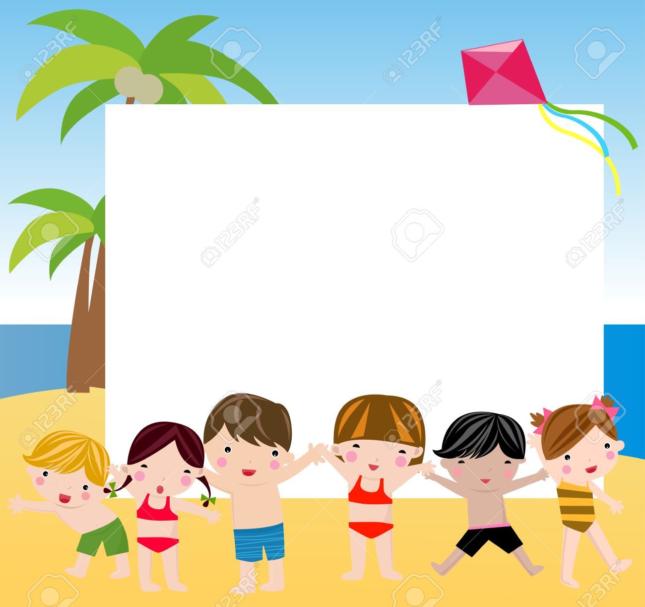 Summer Children And Frame Royalty Free Cliparts, Vectors, And Stock ...