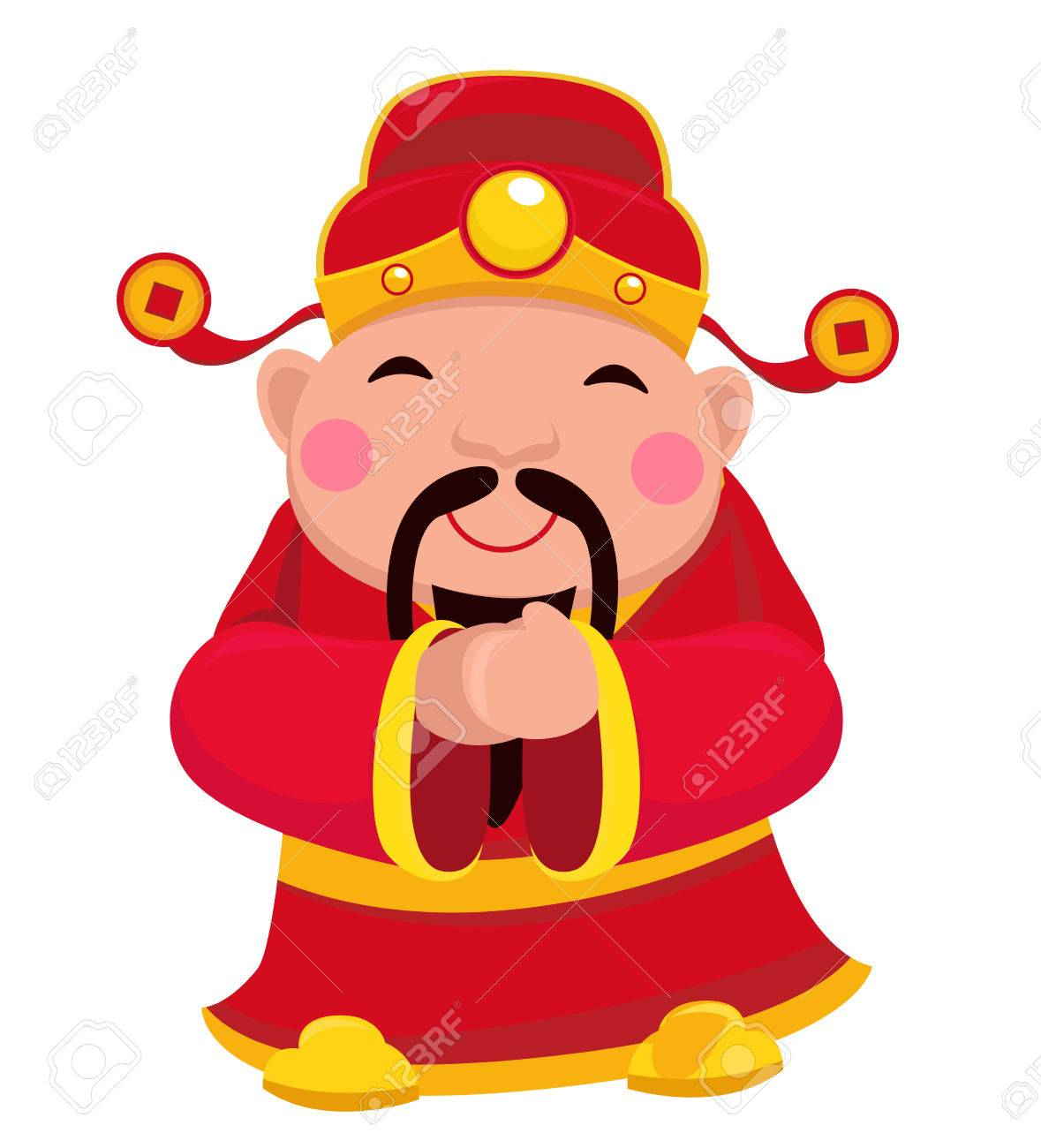 Chingod wealth new year clothing popular greeting jumping chingod wealth new year clothing popular greeting jumping ethnicity oriental chinese red vector culture symbol shadow character celebration buycottarizona Images