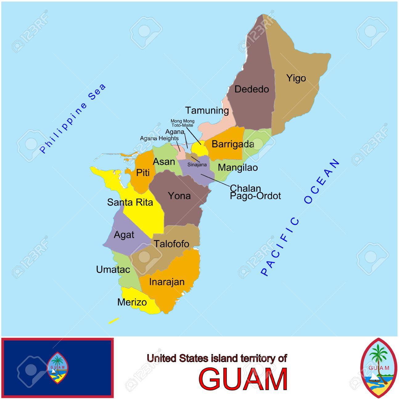 グアムの郡地図