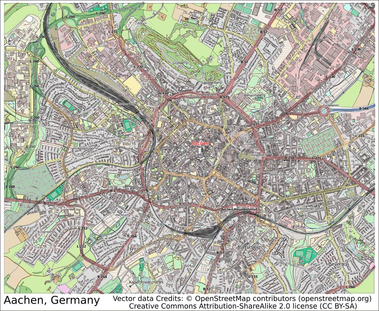 Aachen Germany City Map Aerial View Stock Photo Picture And Royalty