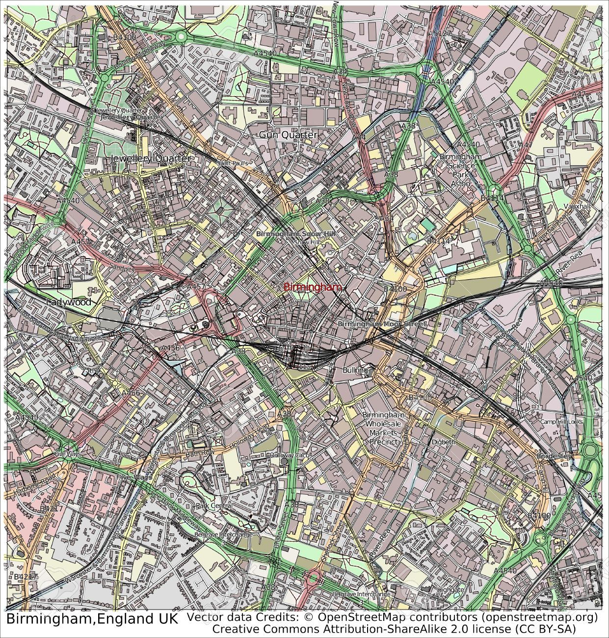 Map Of Uk Birmingham.Birmingham England Uk City Map Aerial View Stock Photo Picture And