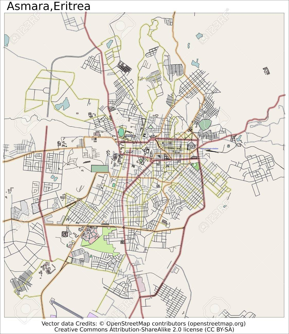 Map of Asmara