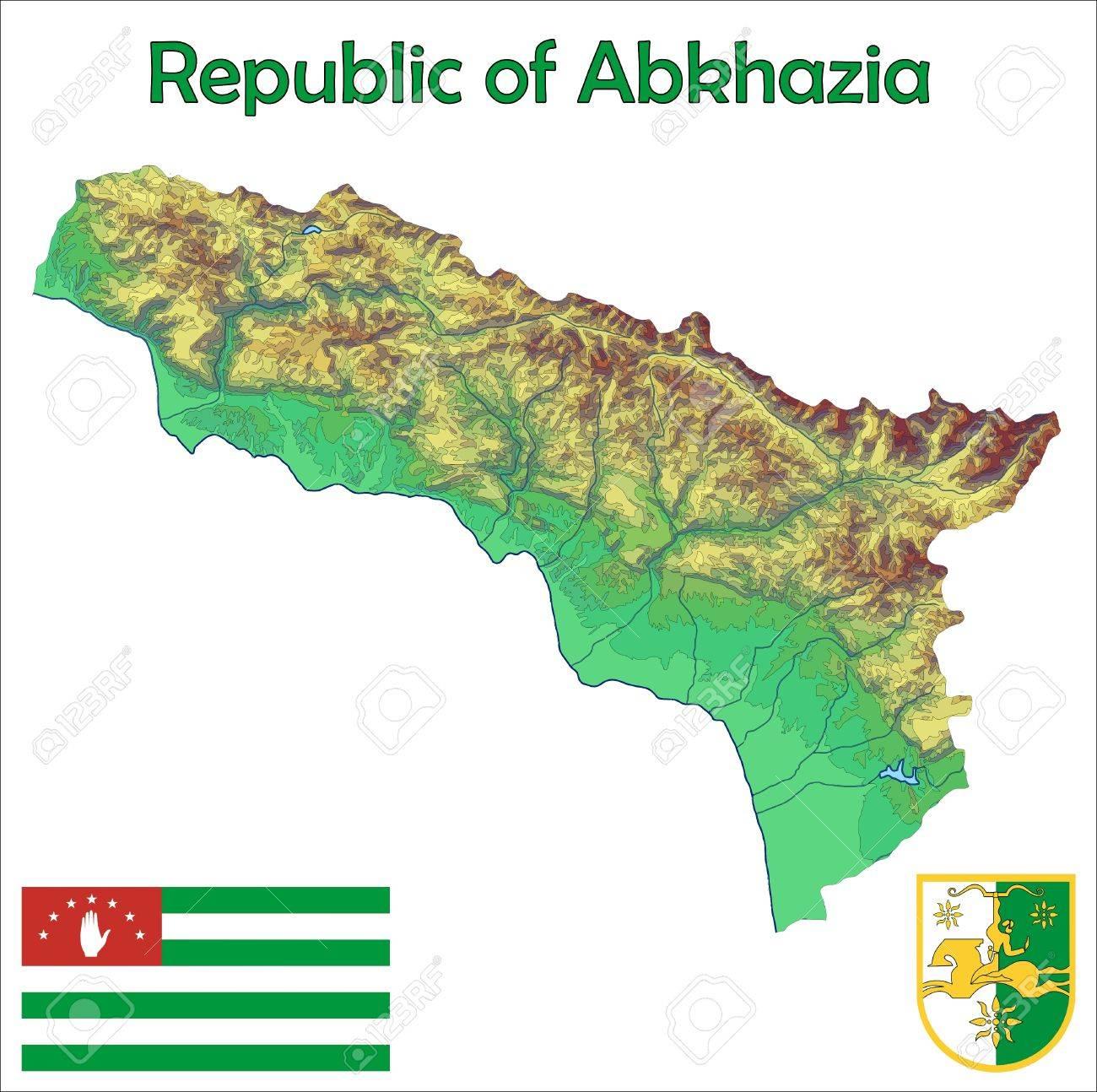 Abkhazia Map Flag Coat Royalty Free Cliparts Vectors And Stock