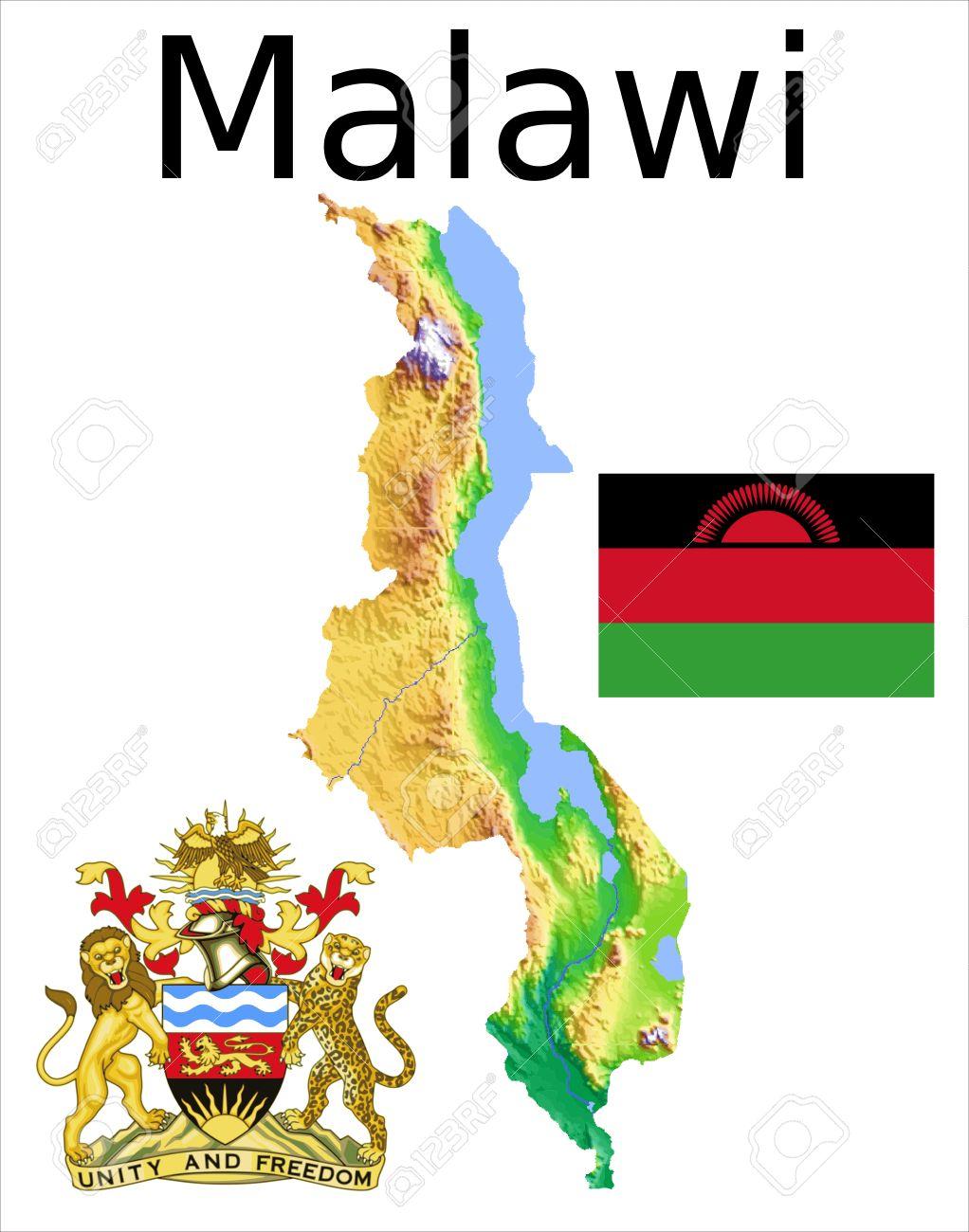 Malawi Map Flag Coat Royalty Free Cliparts Vectors And Stock - Malawi map