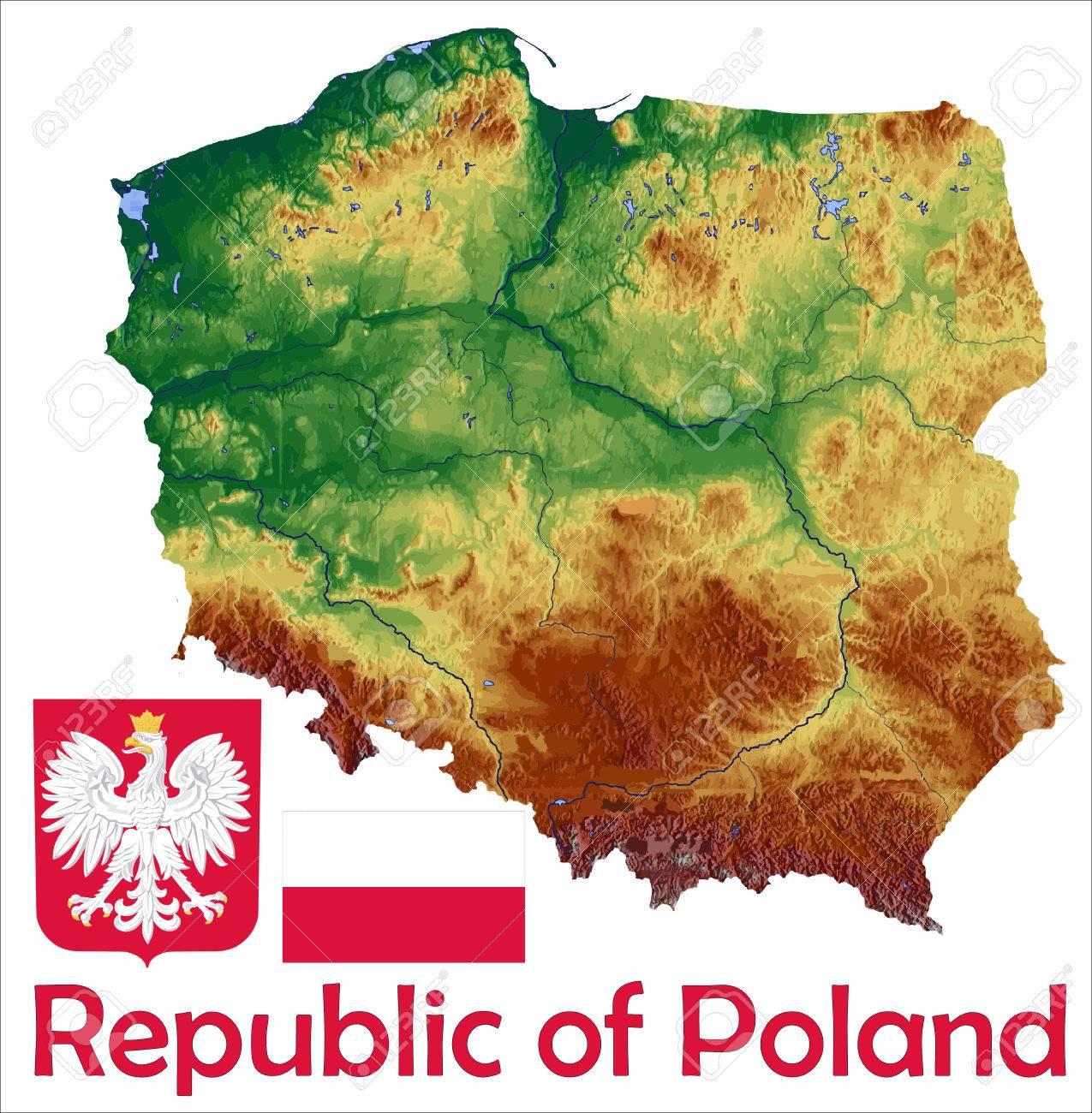 Poland Map Flag Coat Royalty Free Cliparts, Vectors, And Stock ...
