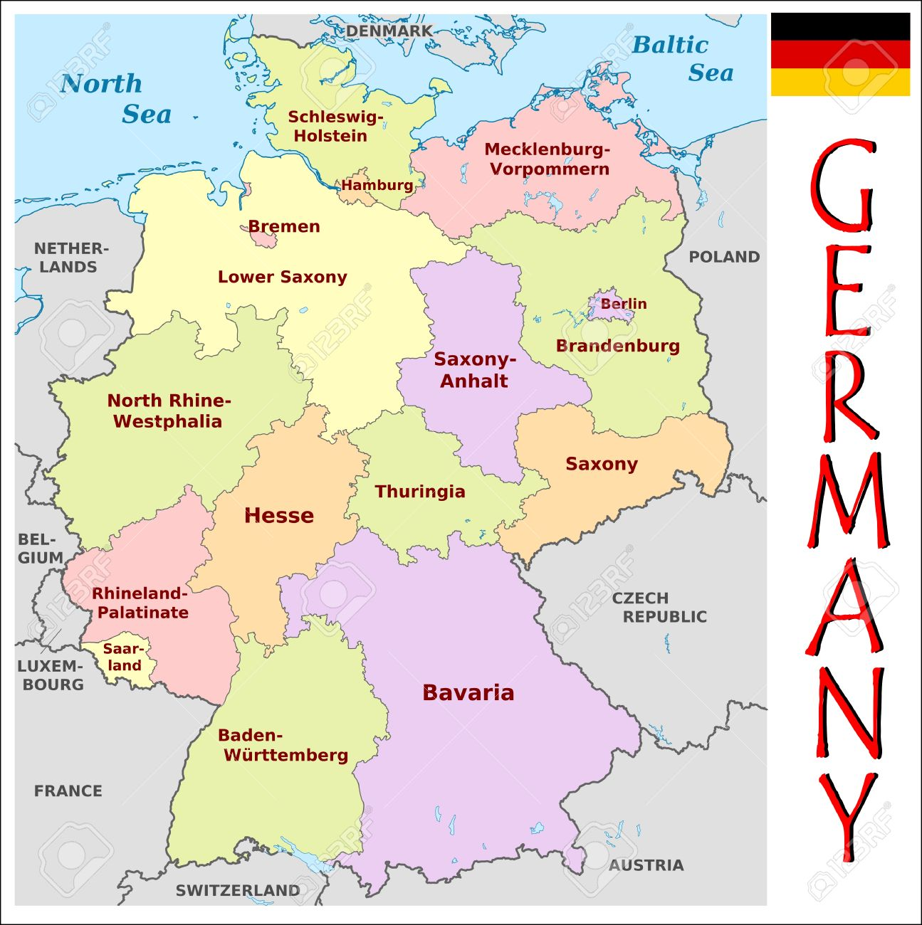 Germany Administrative Divisions Royalty Free Cliparts Vectors And
