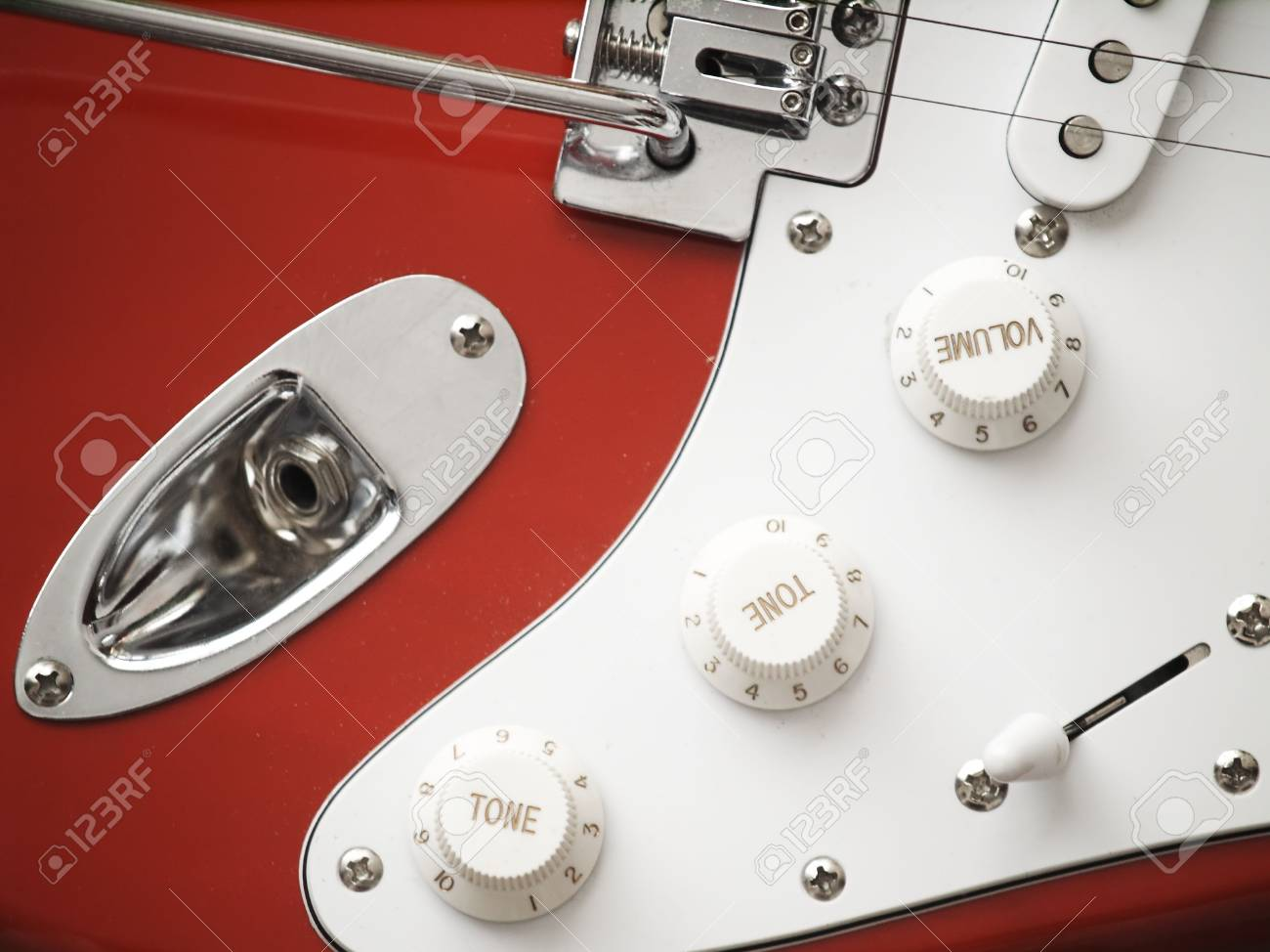 Close-up of a red electric guitar Stock Photo - 2885888