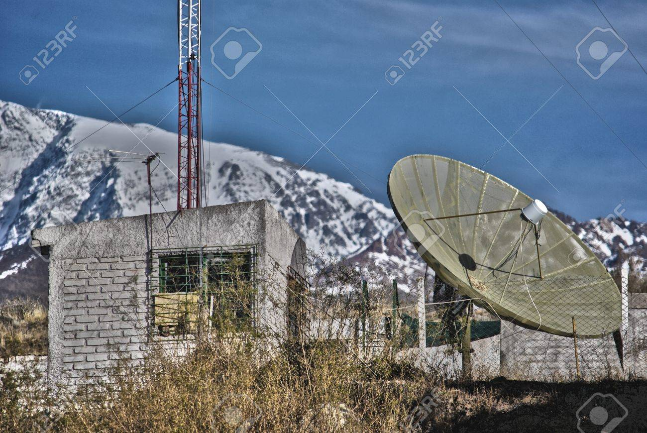 Repeater radio and TV in a mountain area, at west of the Argentina