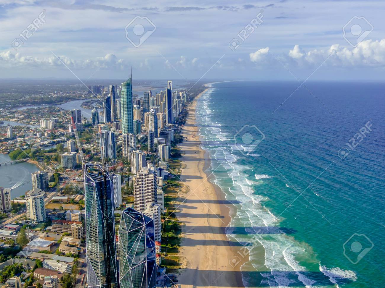 City skyline on the Gold Coast beach - 120523501