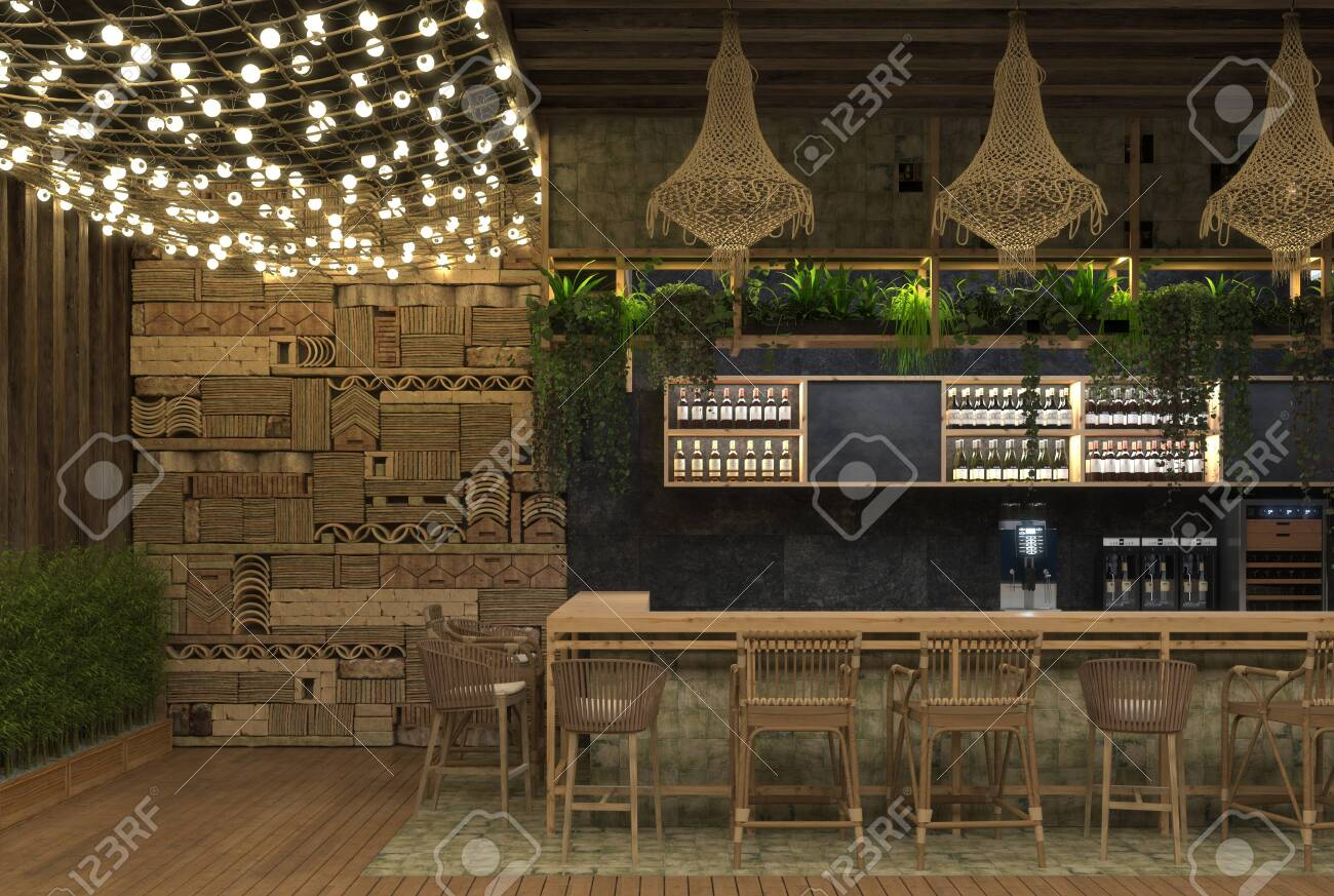 Interior Design Of A Cafe Or Restaurant Ethnic Retro Style With Stock Photo Picture And Royalty Free Image Image 141083246