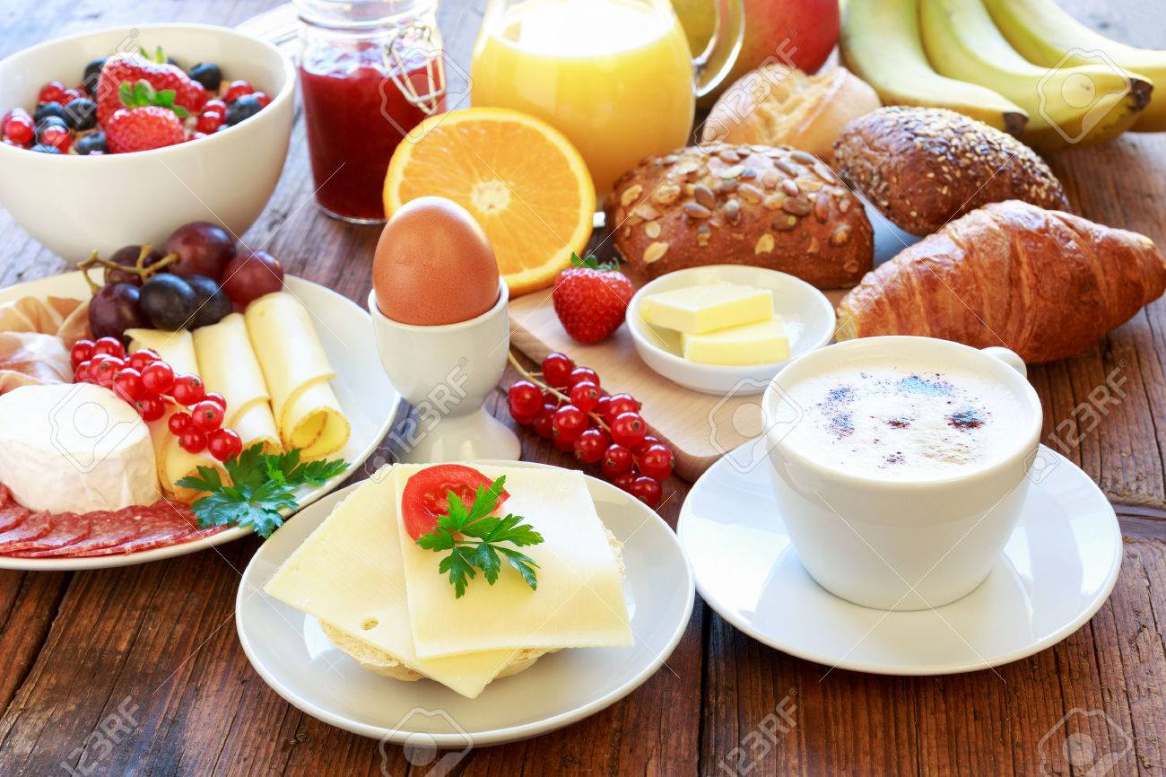 Breakfast Table Stock Photo, Picture And Royalty Free Image. Image