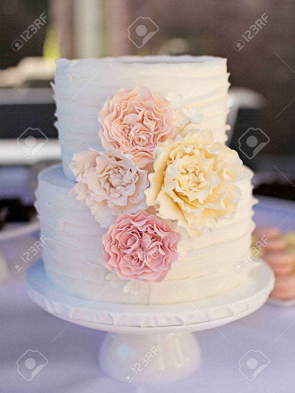 Beautiful white cake with pink and yellow flowers stock photo beautiful white cake with pink and yellow flowers stock photo 73659803 mightylinksfo