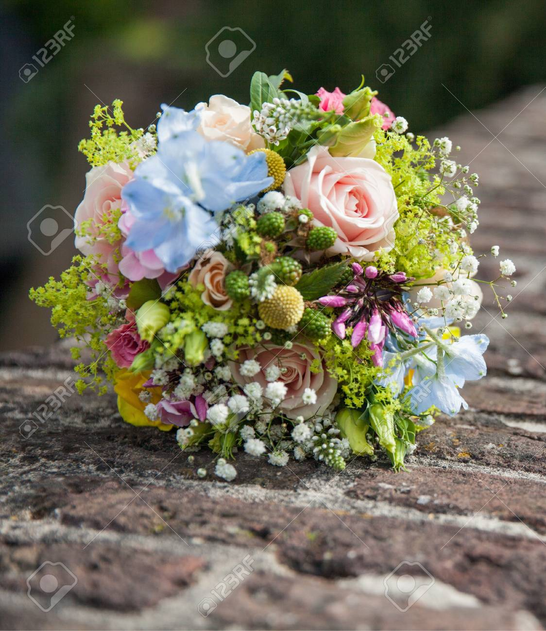 Background Of A Gorgeous Bouquet Of Flowers Stock Photo, Picture And ...