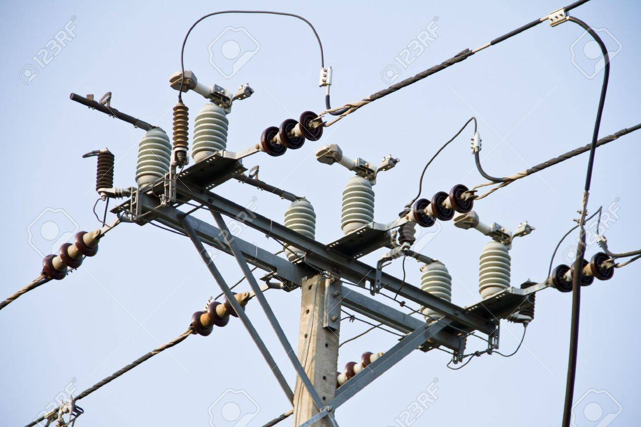 hight voltage construction Stock Photo - 16547426