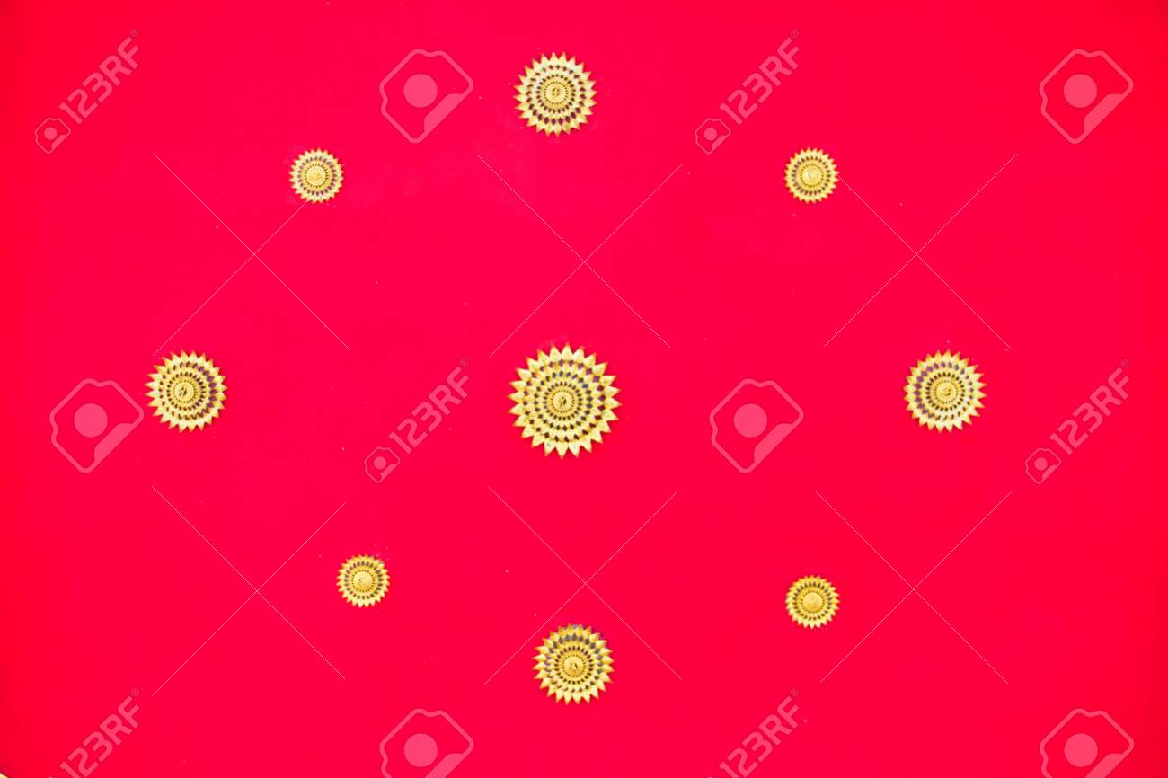 Red ceiling of thai temple Stock Photo - 17440972