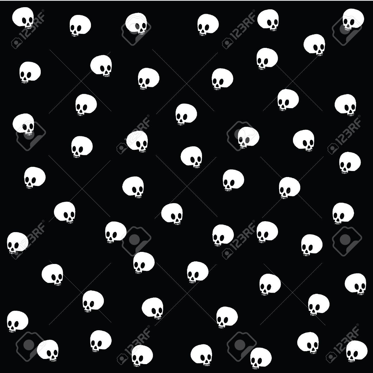 Great Wallpaper Halloween Skull - 10993842-halloween-wallpaper-with-skulls-on-black  Collection_604334.jpg