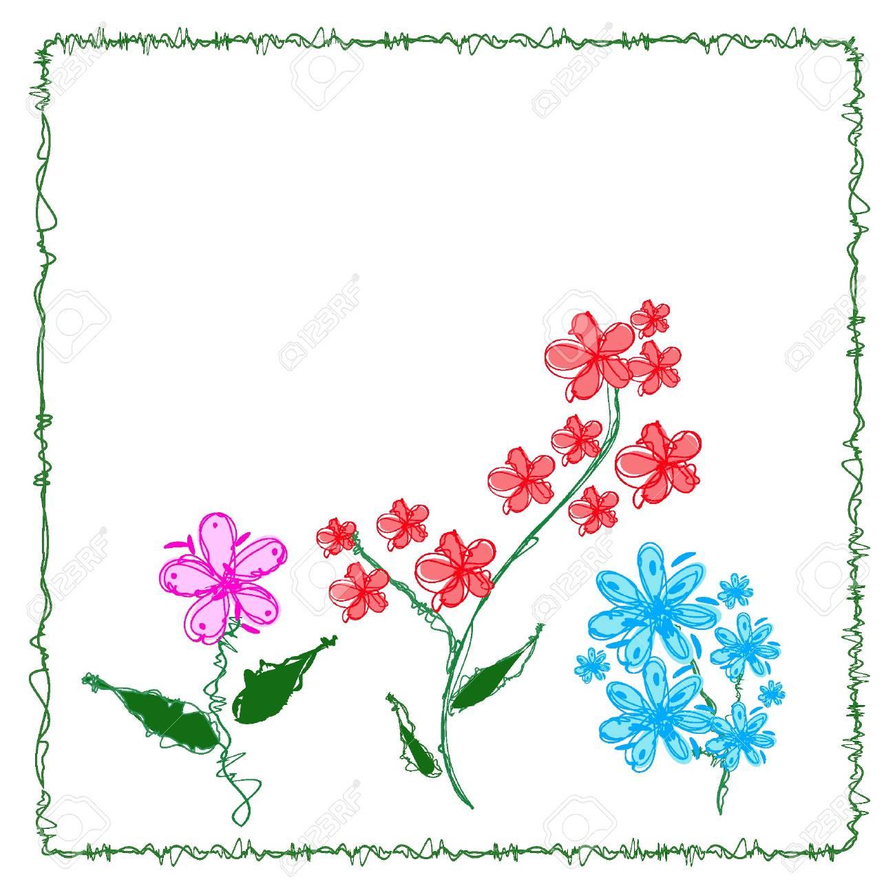 Swirly vector flowers. Eps8 Stock Vector - 11053159