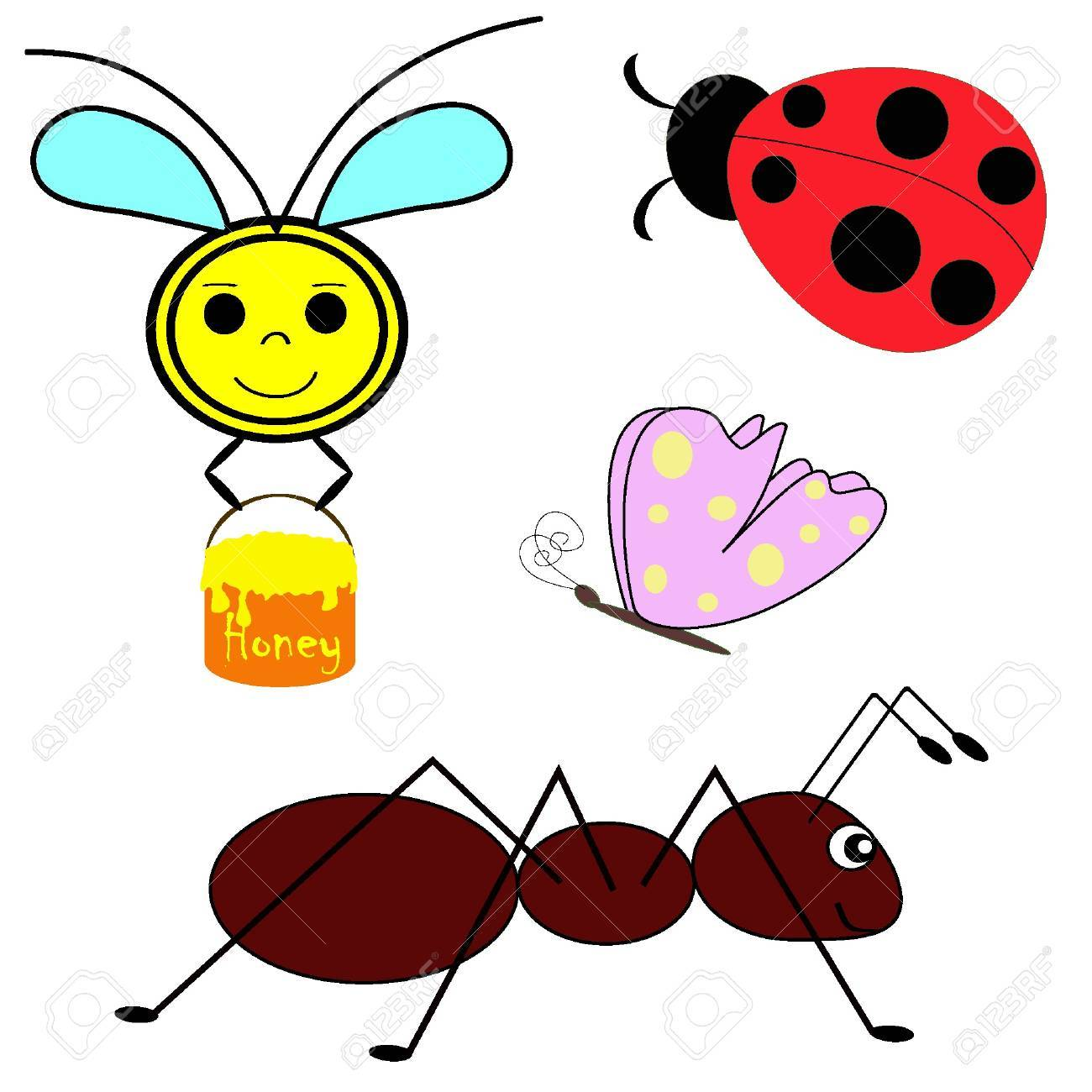 Set of vector insects. Illustration EPS8 Stock Vector - 11053210