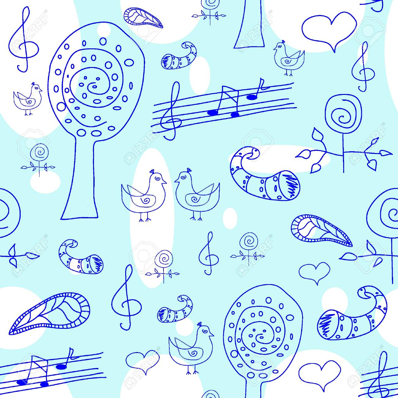 Seamless floral pattern. Vector illustration EPS8 Stock Vector - 11053113