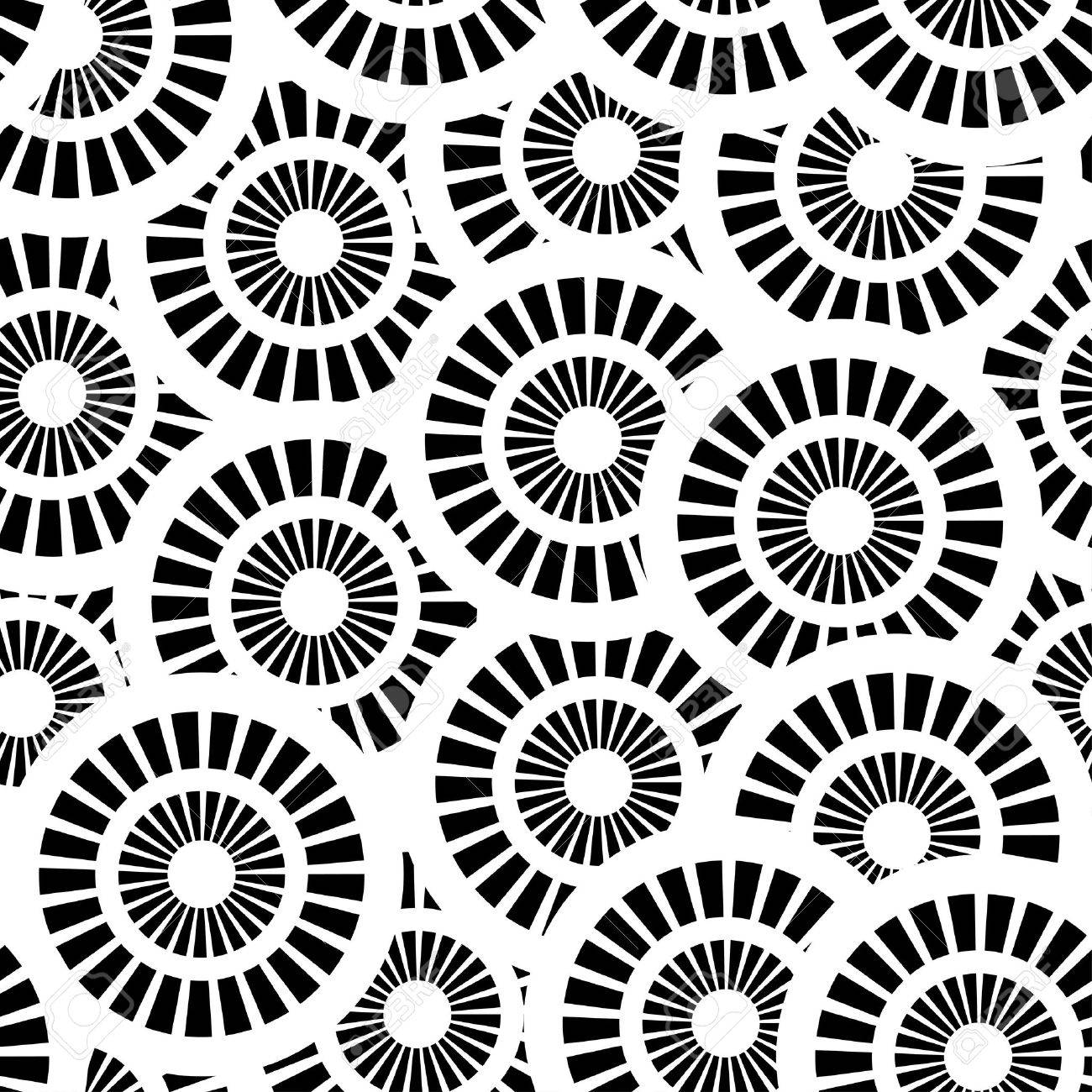Seamless pattern with white and black circles Stock Vector - 14836976