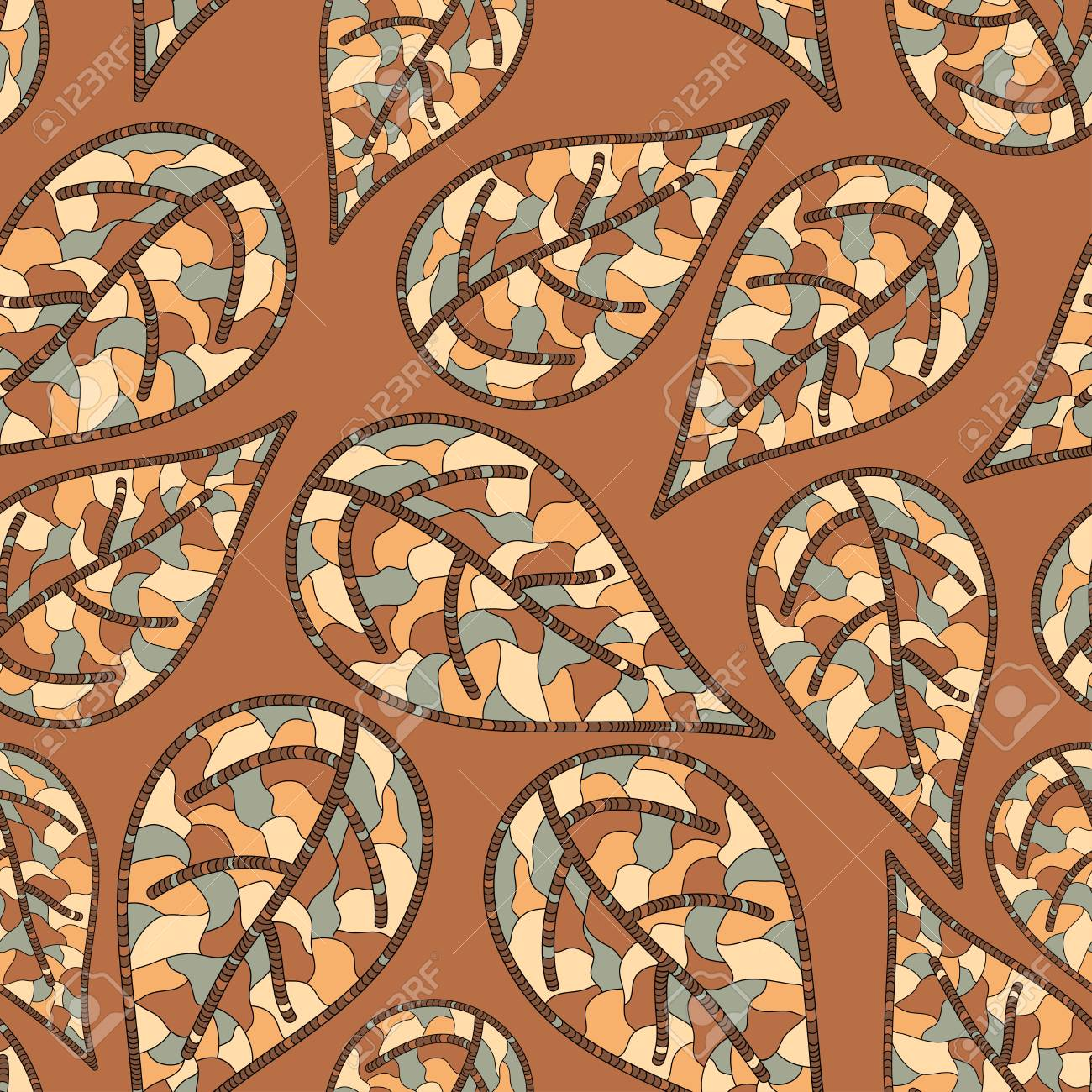 Seamless pattern with autumn leaves Stock Vector - 15027450