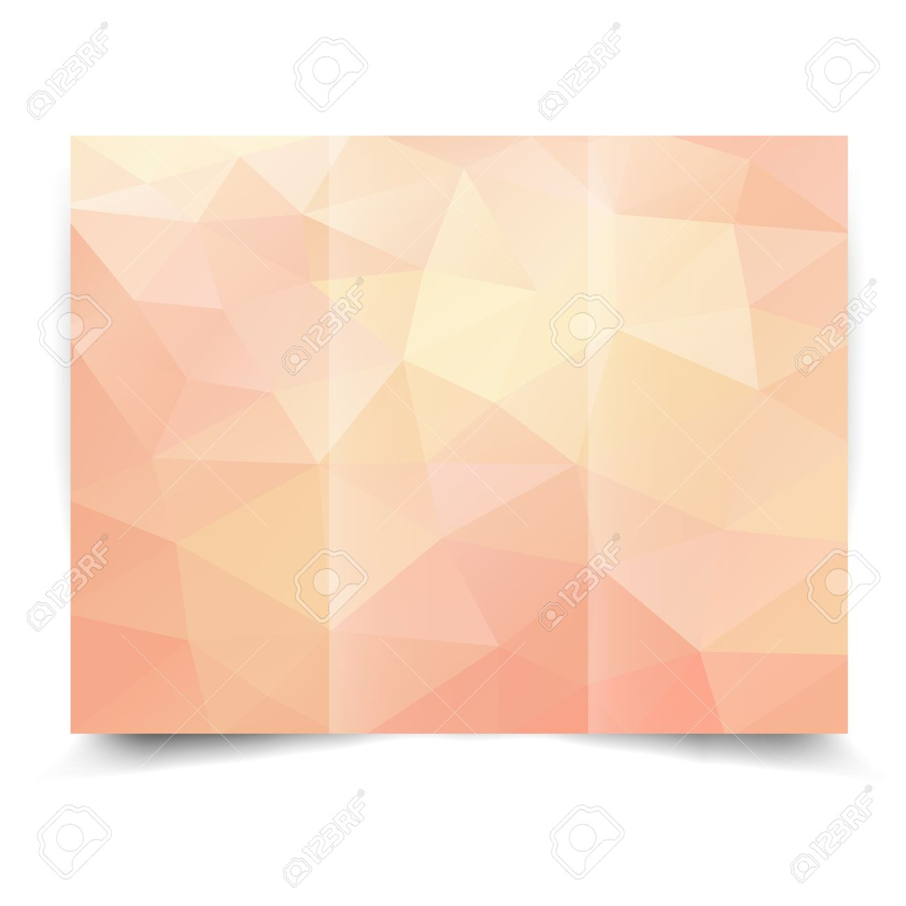 pink tri fold brochure design template with abstract geometric background tri fold mock