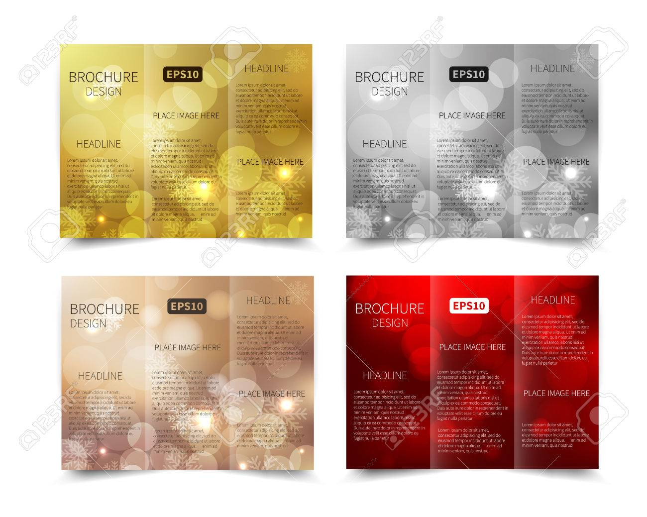 set of christmas vector tri fold brochure design template set of christmas vector tri fold brochure design template abstract geometric background eps10 tri