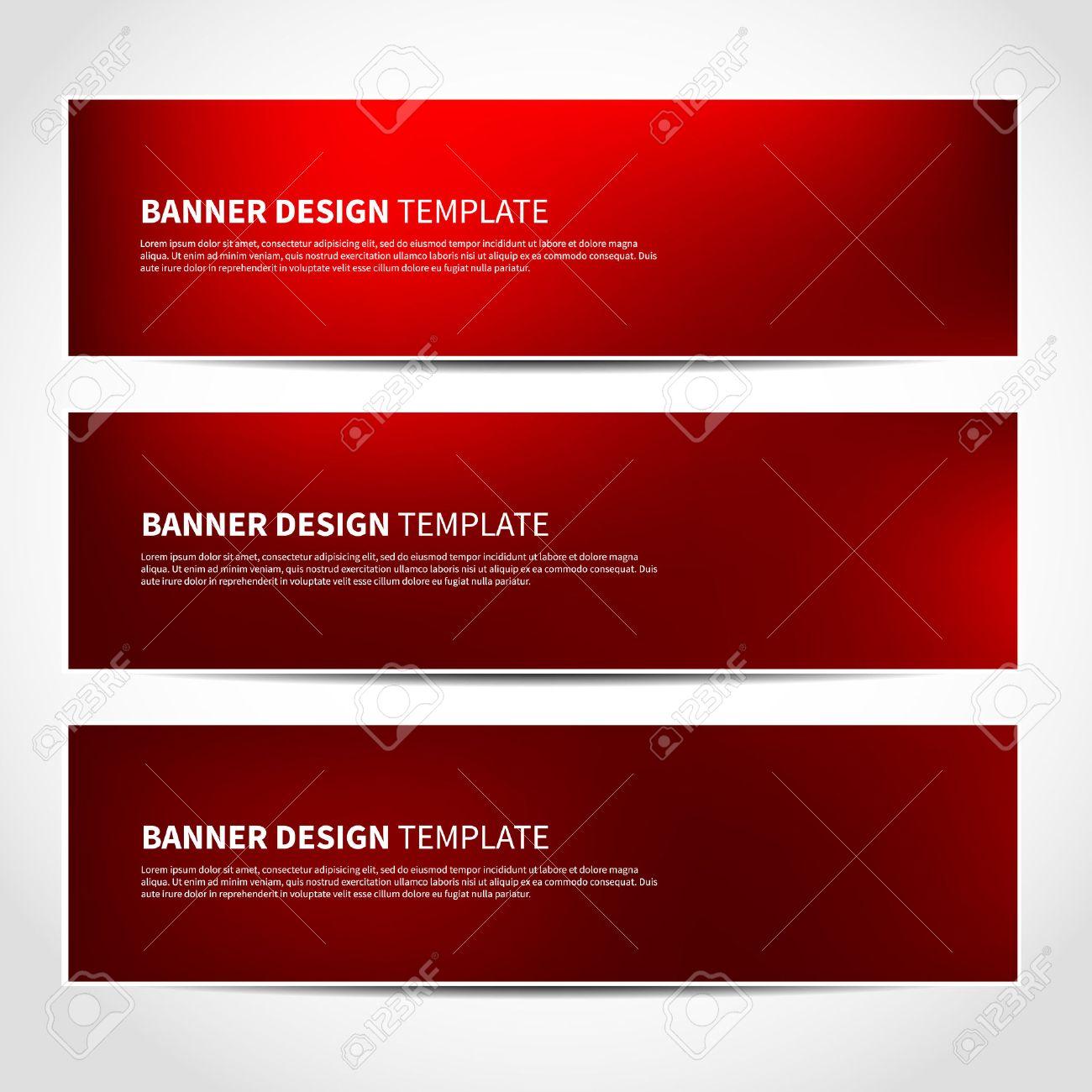 Conjunto De Navidad Plantilla Vector Banners Rojo O Sitio Web ...