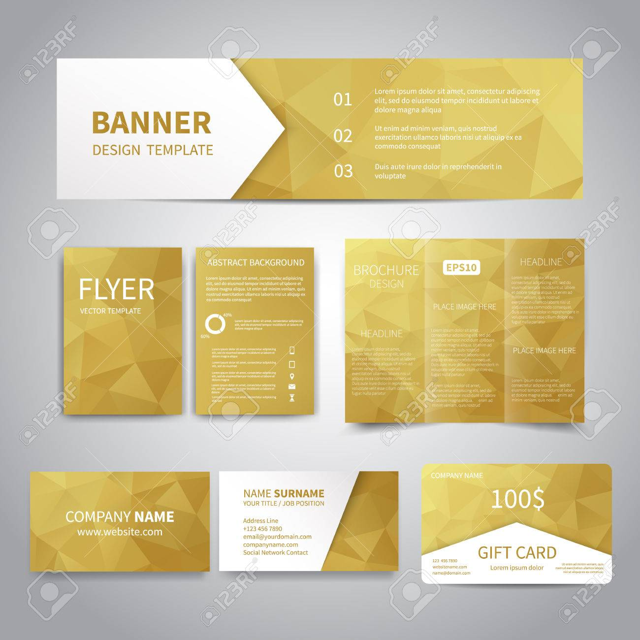 Banner, Flyers, Brochure, Business Cards, Gift Card Design Templates ...