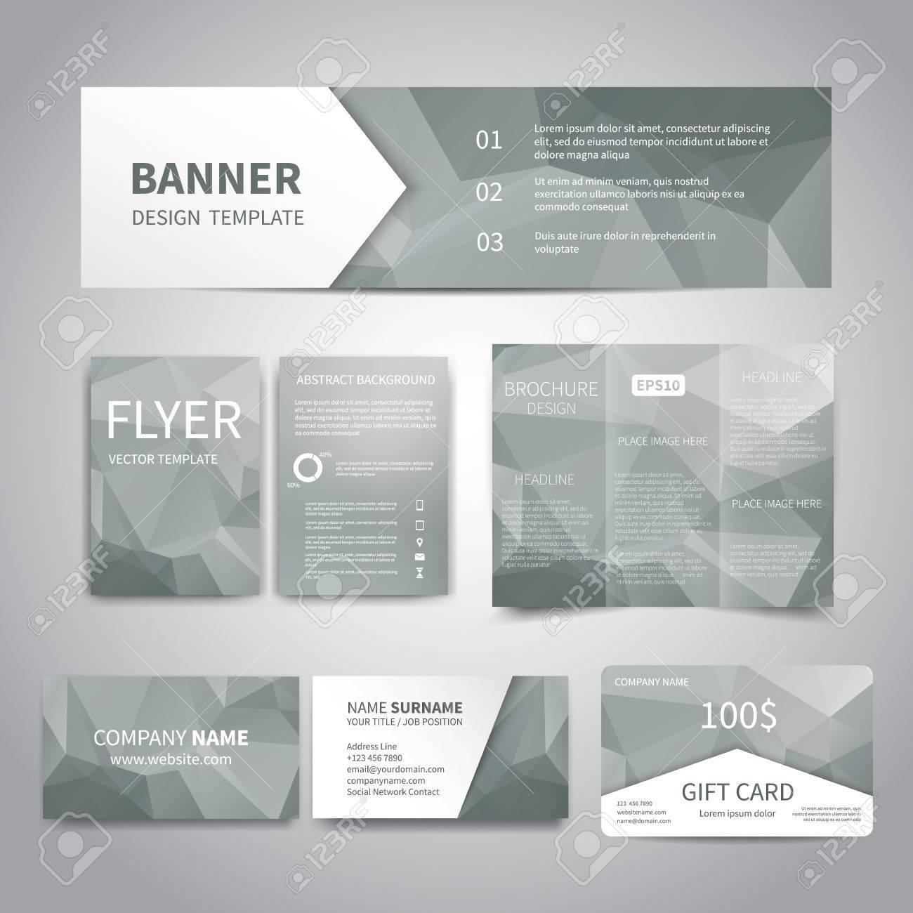 Banner, Flyer, Broschüre, Visitenkarten, Design-Vorlagen Geschenk ...