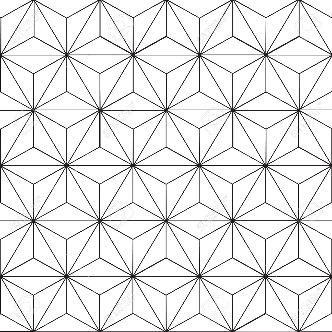 seamless geometric pattern with floral design royalty free cliparts