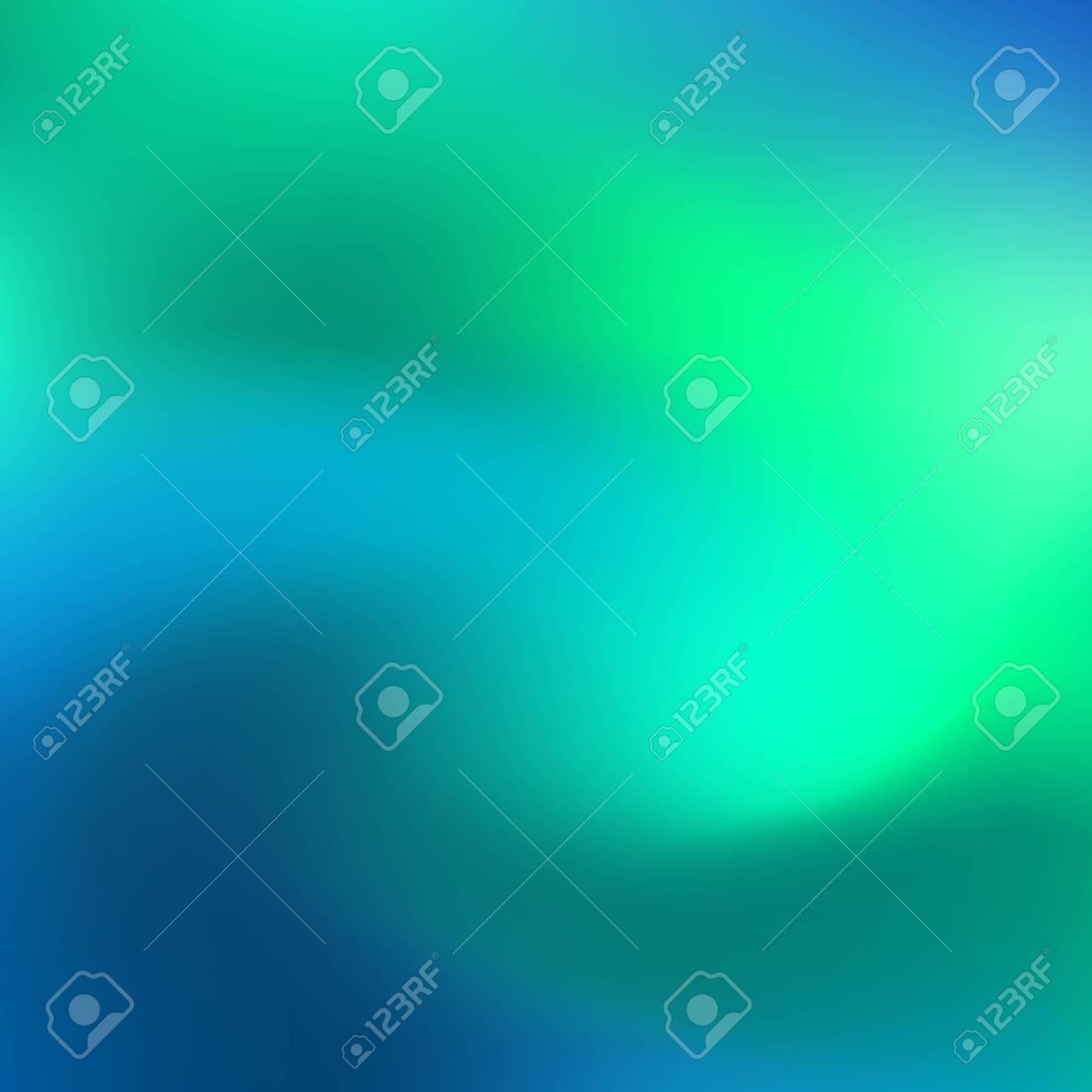 Holographic neon abstract vector background for flyers, cover, poster, banner etc. Colorful vibrant background. Blue and green neon colors. Creative design. Vector graphics - 121695421