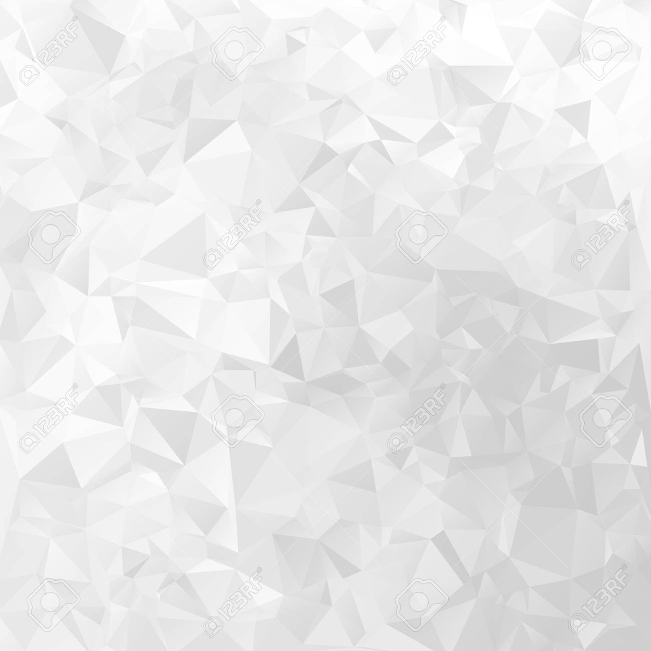 White geometrical vector background triangular design pattern - 125693923