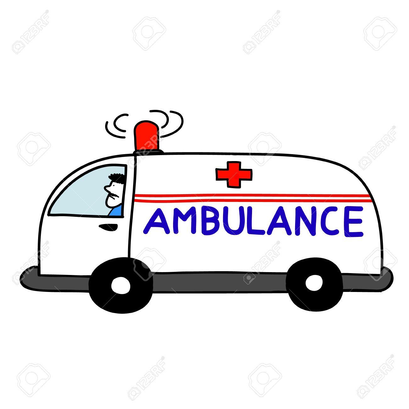 Ambulance Car Open Sirens Royalty Free Cliparts, Vectors, And ... | {Ambulance clipart 88}