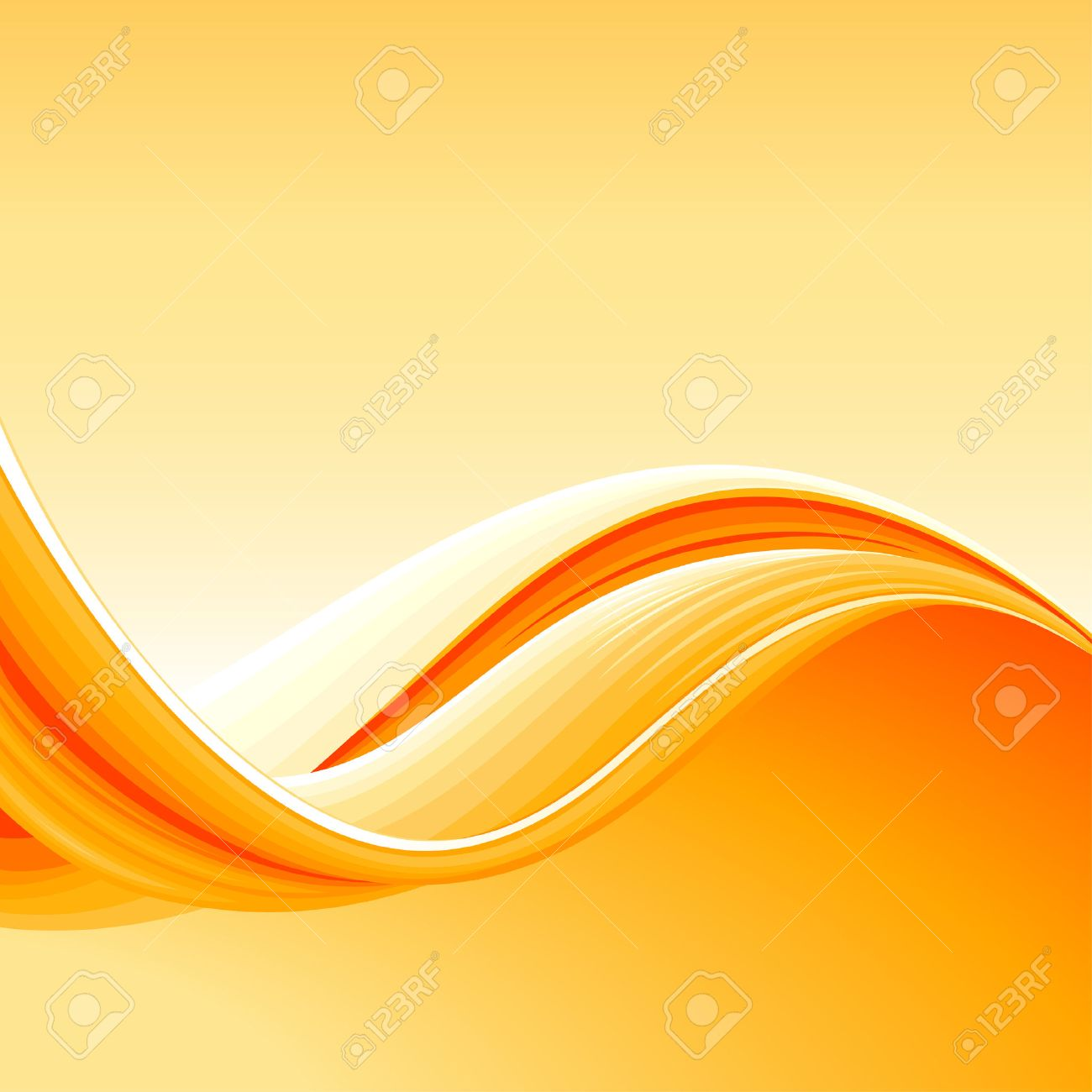Colorful Abstract Wave Background, editable vector illustration Stock Vector - 4770169