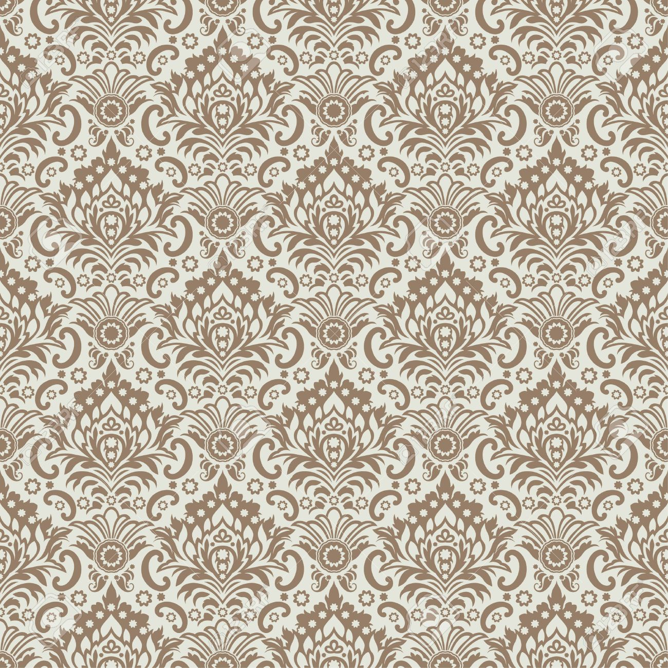 Seamless Classic Wallpaper Background Stock Vector
