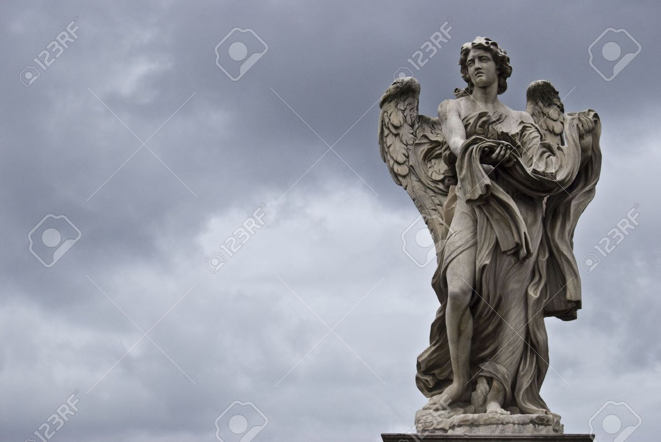 sculpture of the famous Ponte Sant Angelo in Rome by Bernini Stock Photo - 4786694