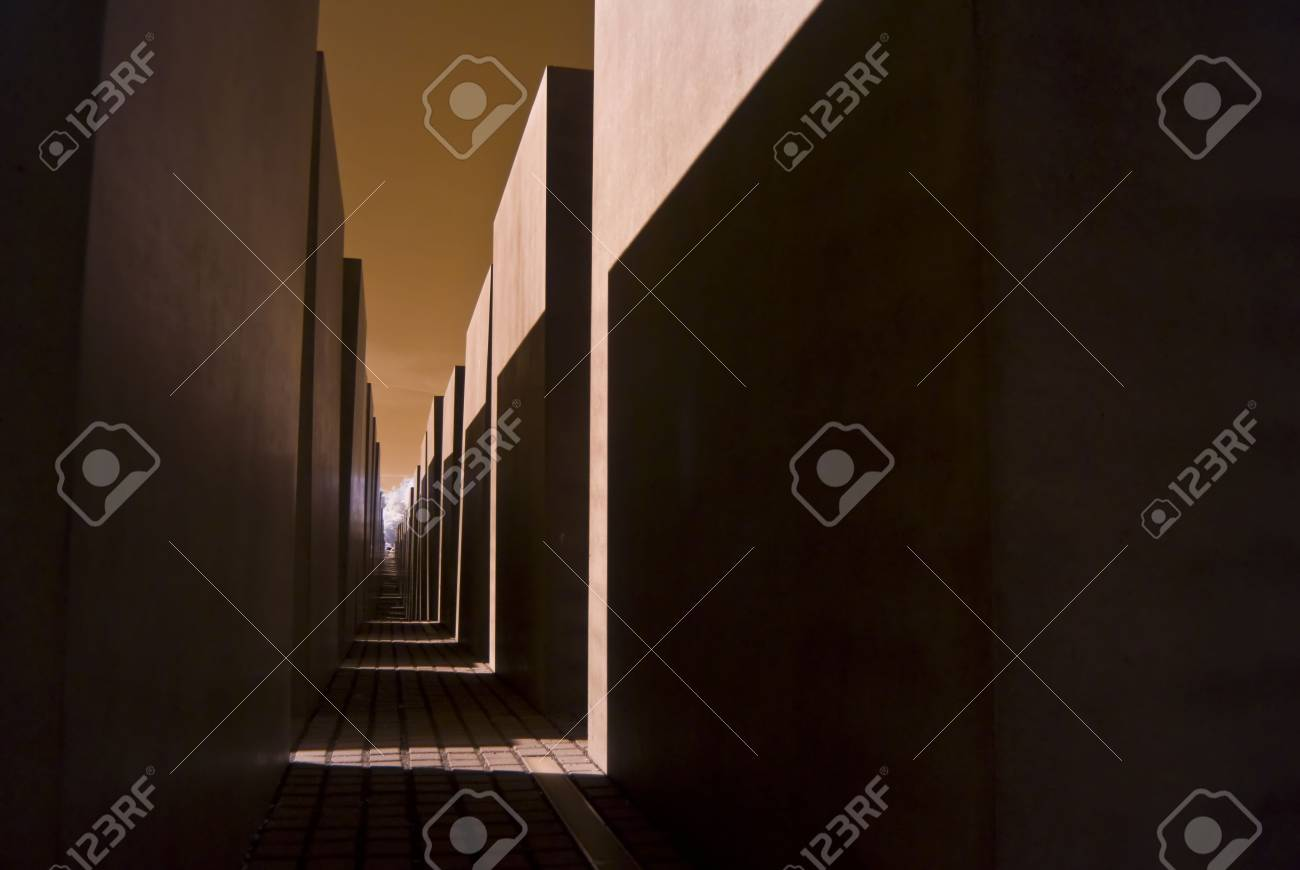 detail of the holocaust memorial in berlin, photo taken with an infrared filter Stock Photo - 5014293