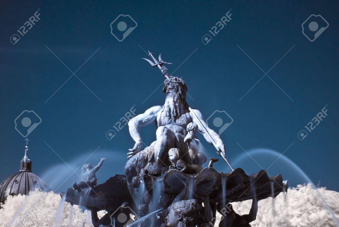 famous Neptun fountain on the Alexanderplatz in Berlin Stock Photo - 5033524