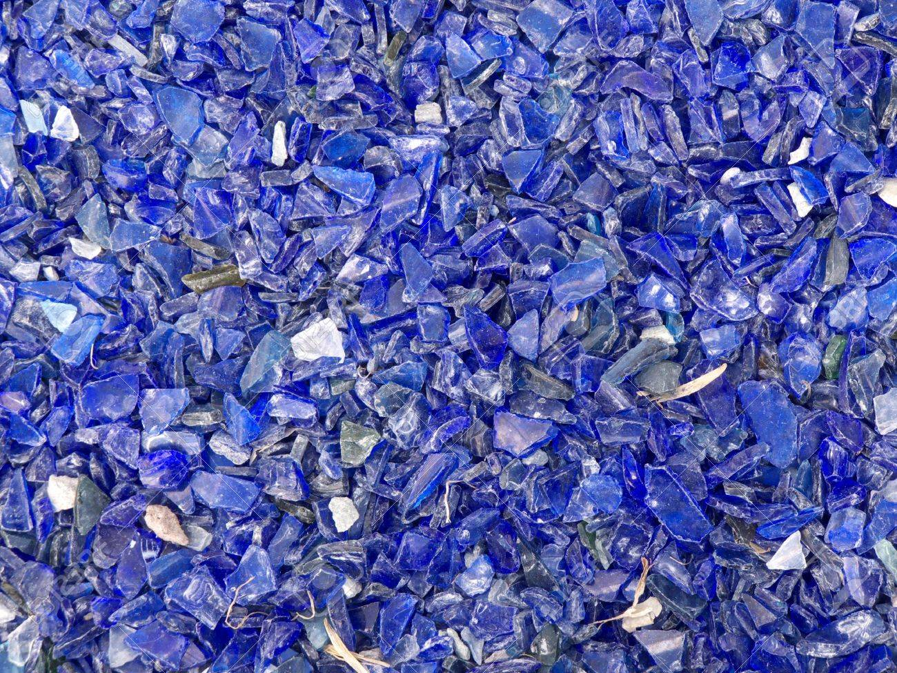many broken pieces of glass in blue Stock Photo - 5097733
