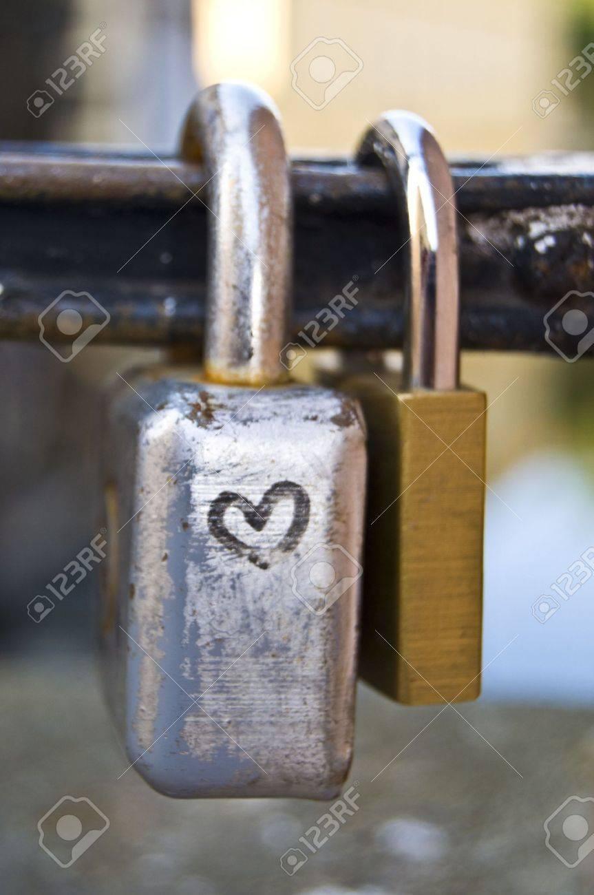 locks symbolizing a vow for everlasting love Stock Photo - 5862971