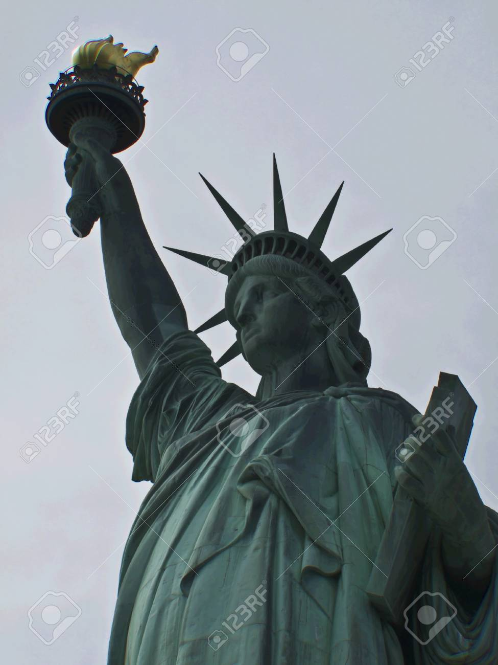 view of the famous Statue of Liberty Stock Photo - 7104728