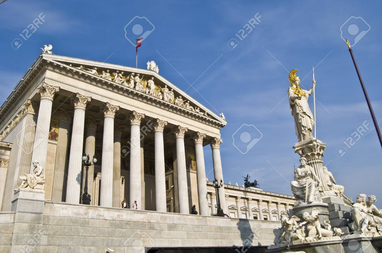 part of the complex of the Parliament in Vienna Stock Photo - 7275137