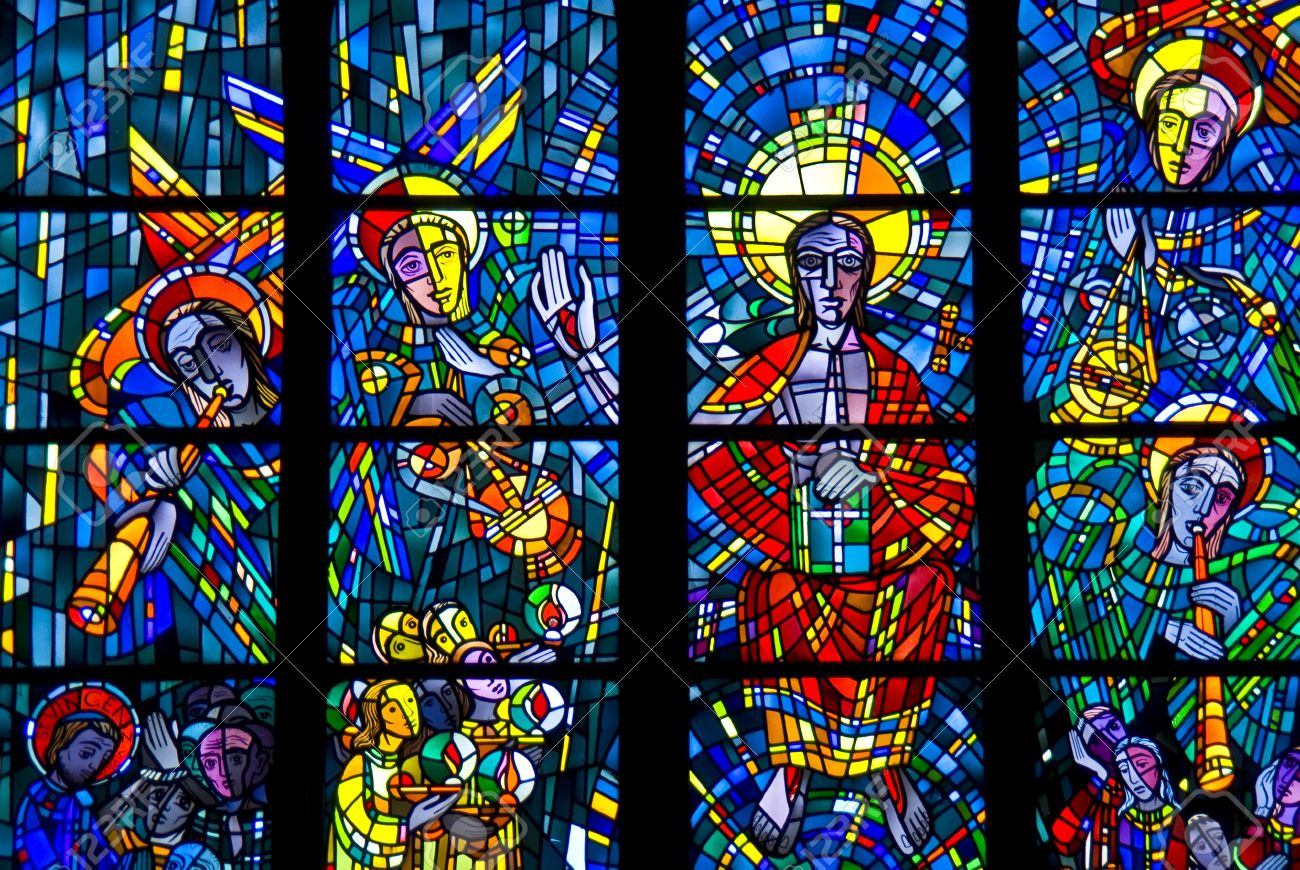stained glass windows of a church in Bochum Stock Photo - 10296749