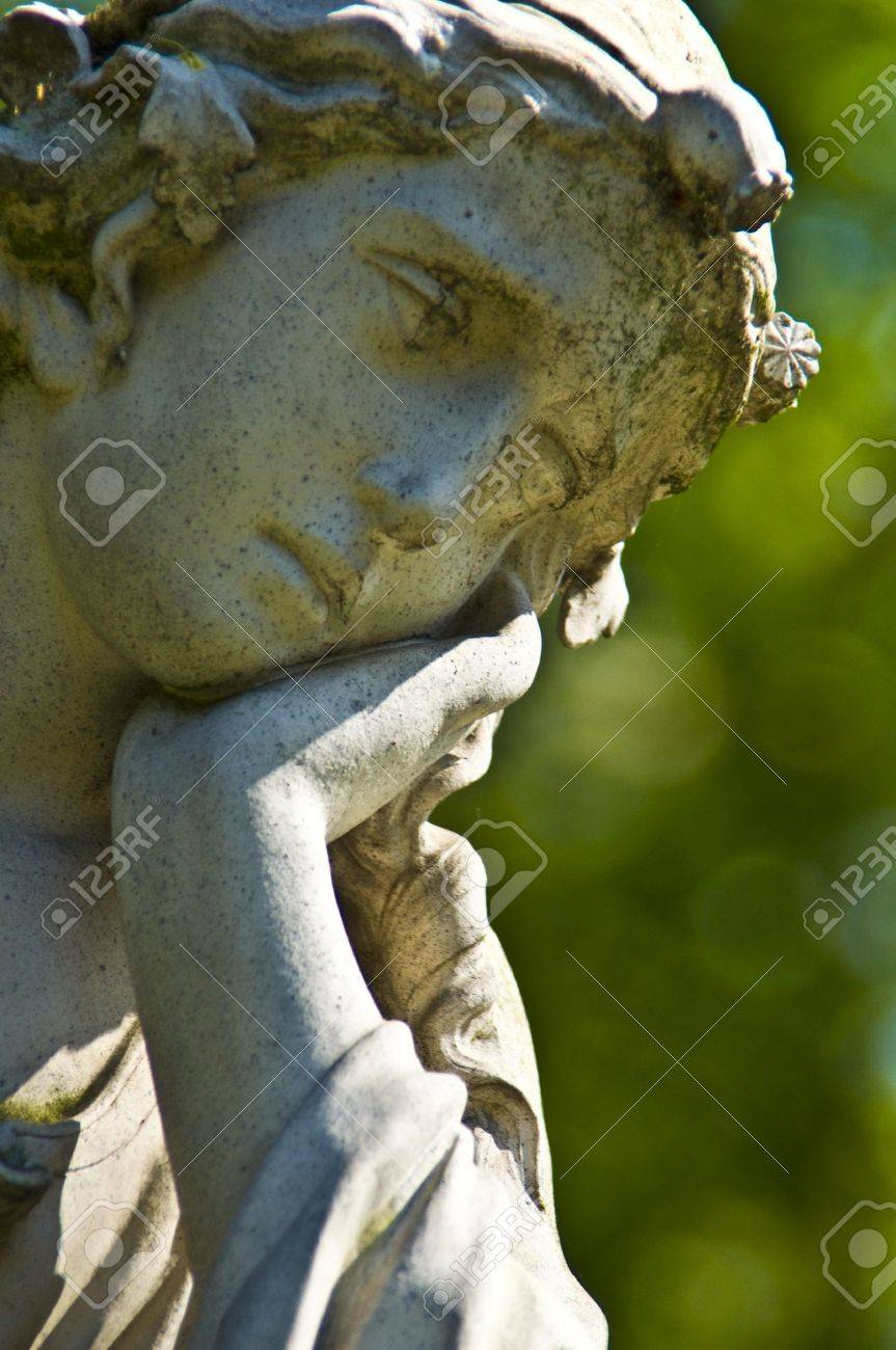 detail of an old marble tombstone at the old cemetery in Bonn Stock Photo - 10323862