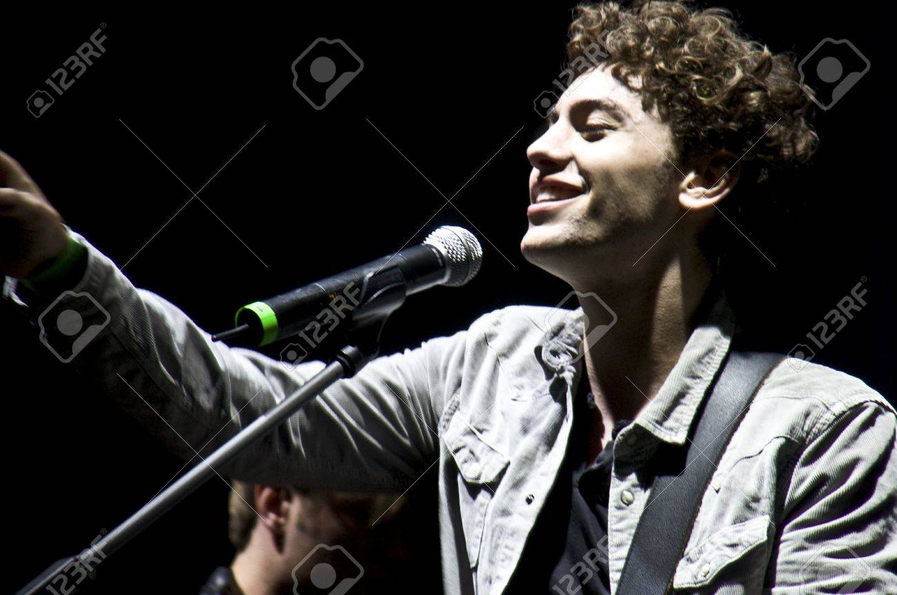 HALLE, GERMANY - AUGUST 27: Singer Trevor Brown of the Band The Black Pony performs at the 75th Laternenfest on August 27, 2011 in Halle, Germany. Stock Photo - 10404236