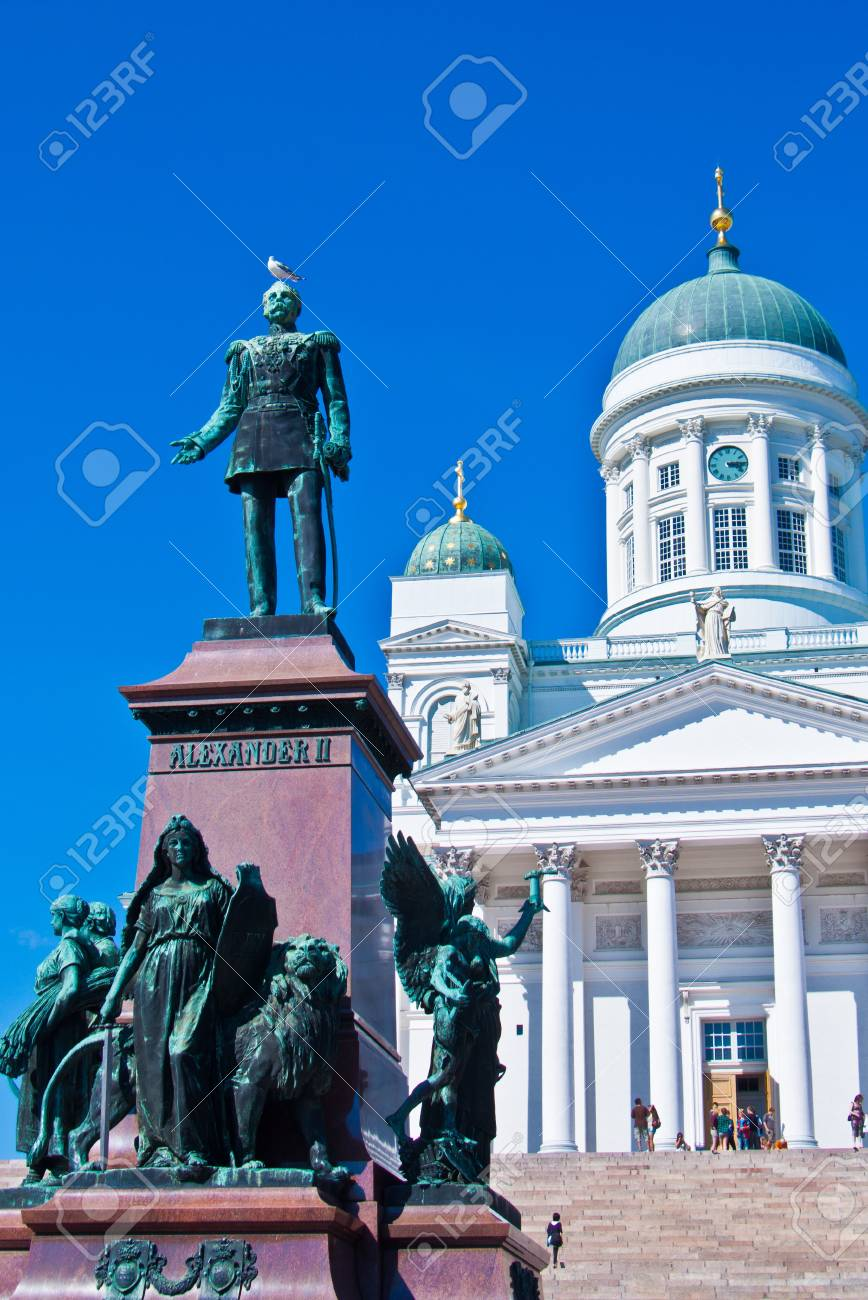 view of the senate square with the cathedral in Helsinki Stock Photo - 11534639