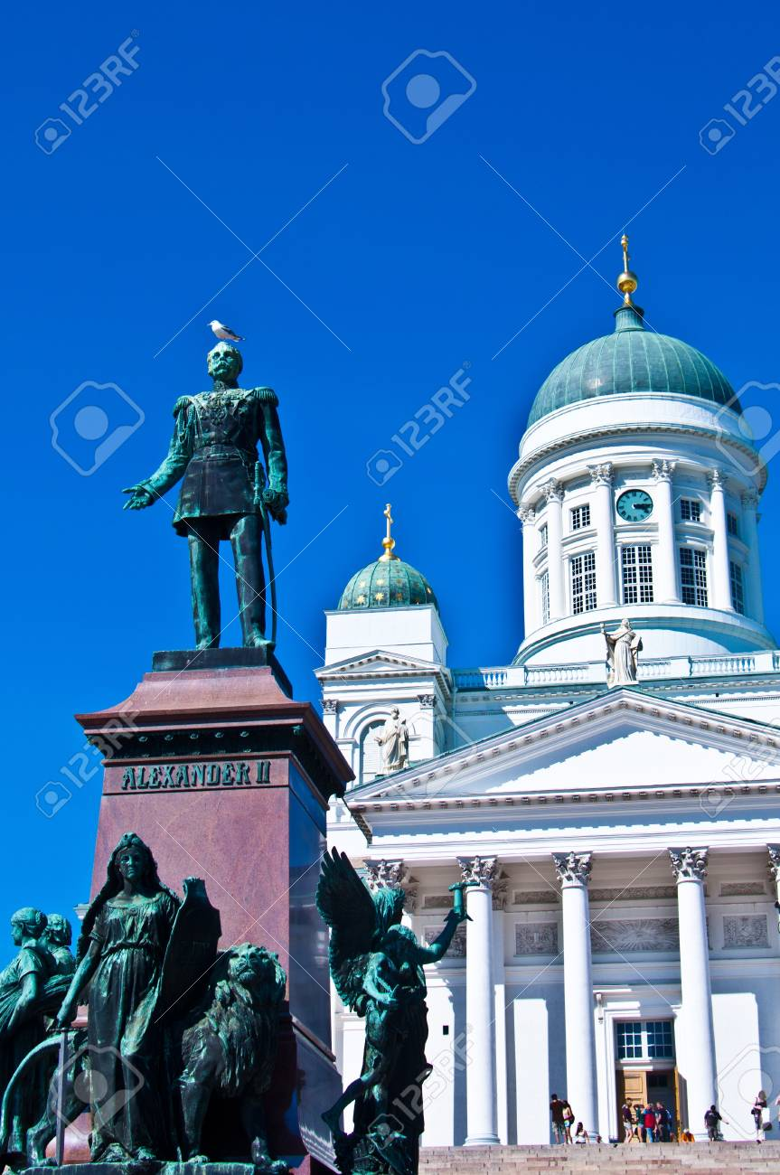view of the senate square with the cathedral in Helsinki Stock Photo - 11534631